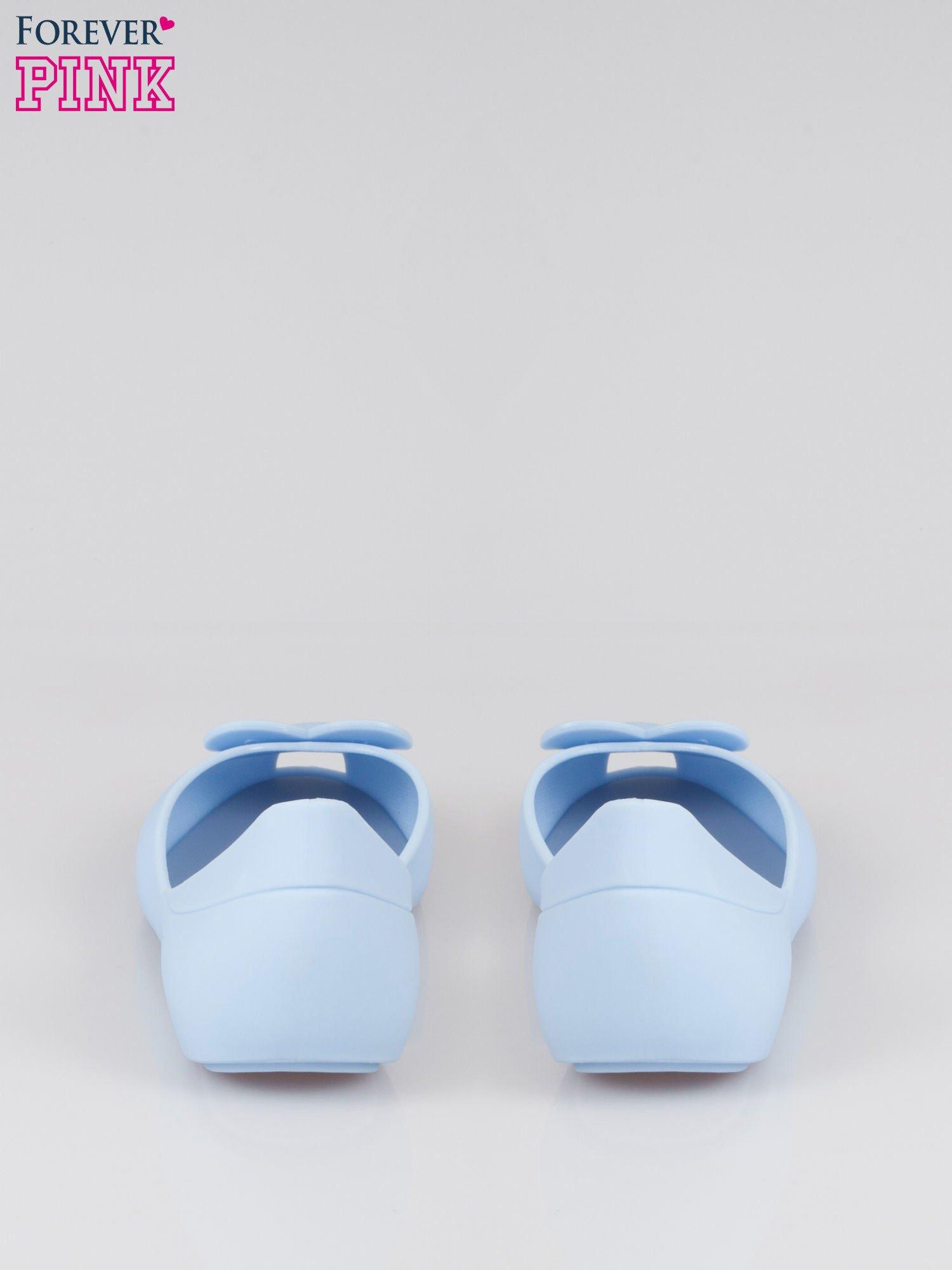 Niebieskie gumowe baleriny meliski z sercem                                  zdj.                                  3