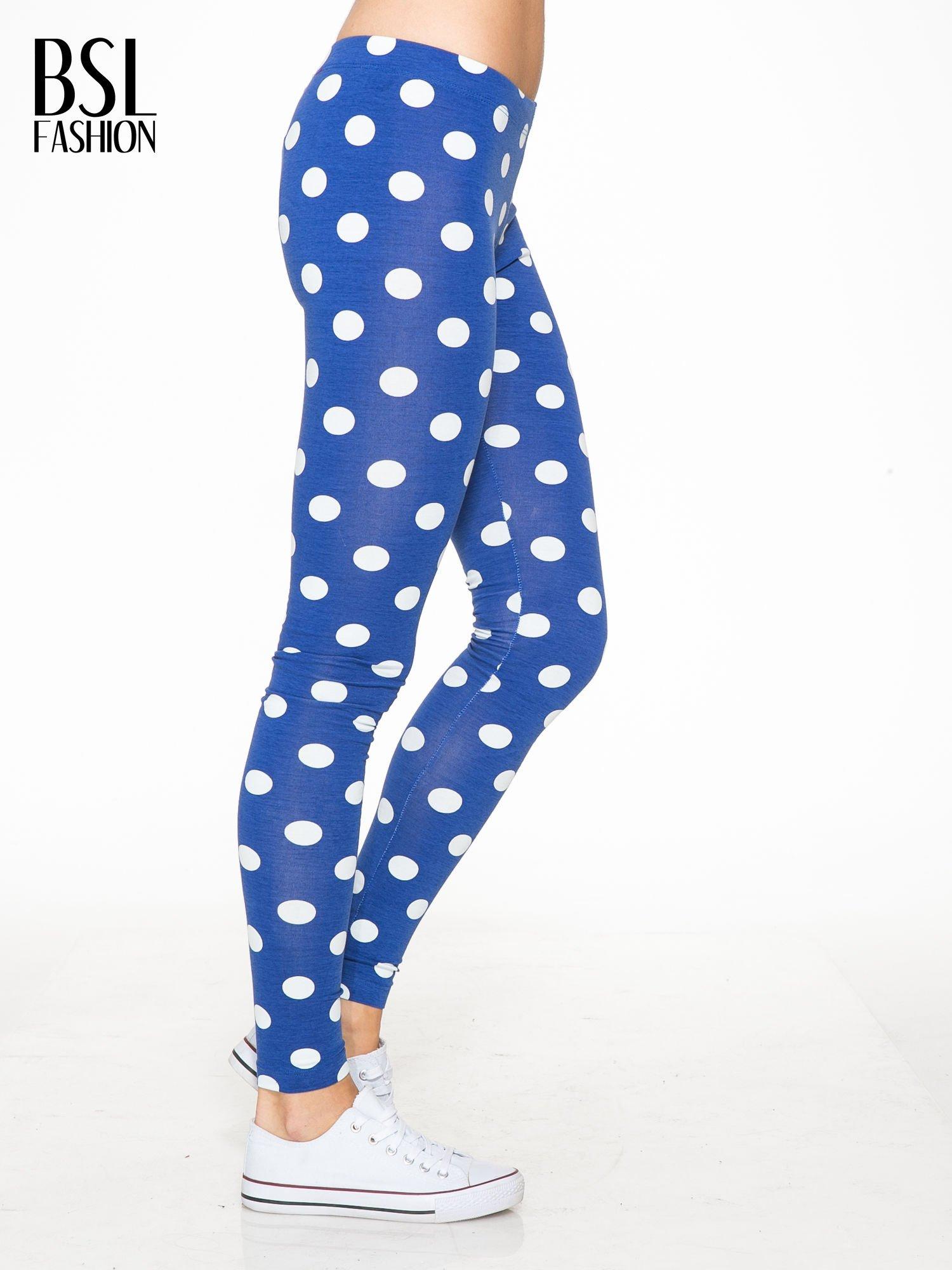 Niebieskie legginsy w grochy                                  zdj.                                  3