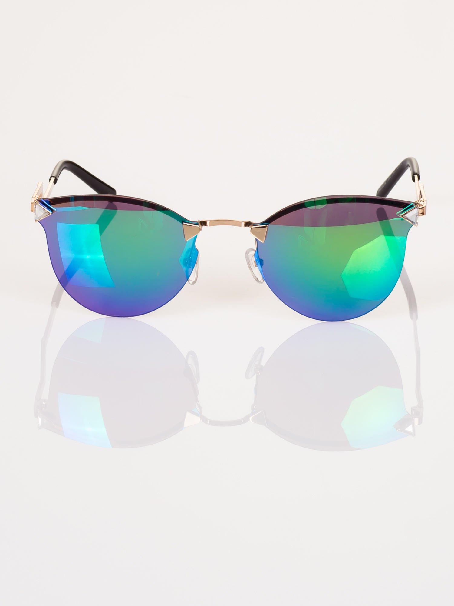 ee31bb589b442d Niebiesko-zielone eleganckie okulary przeciwsłoneczne