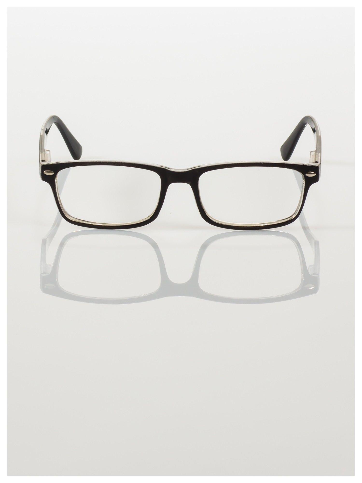 Okulary korekcyjne +2.0 D ,model WAYFARER do czytania z systemem FLEX na zausznikach +GRATIS PLASTIKOWE ETUI I ŚCIERECZKA Z MIKROFIBRY                                  zdj.                                  1