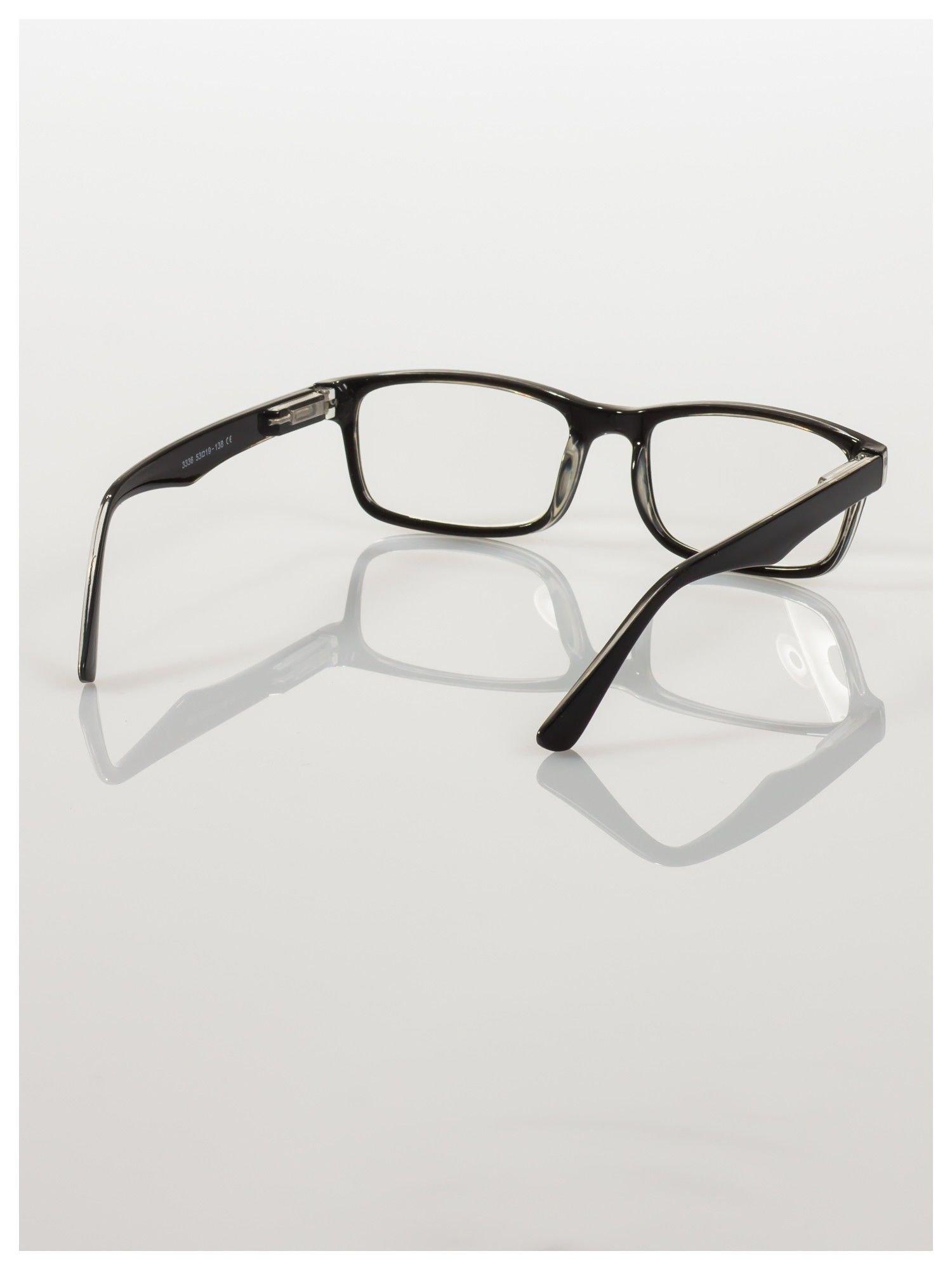 Okulary korekcyjne +2.0 D ,model WAYFARER do czytania z systemem FLEX na zausznikach +GRATIS PLASTIKOWE ETUI I ŚCIERECZKA Z MIKROFIBRY                                  zdj.                                  4