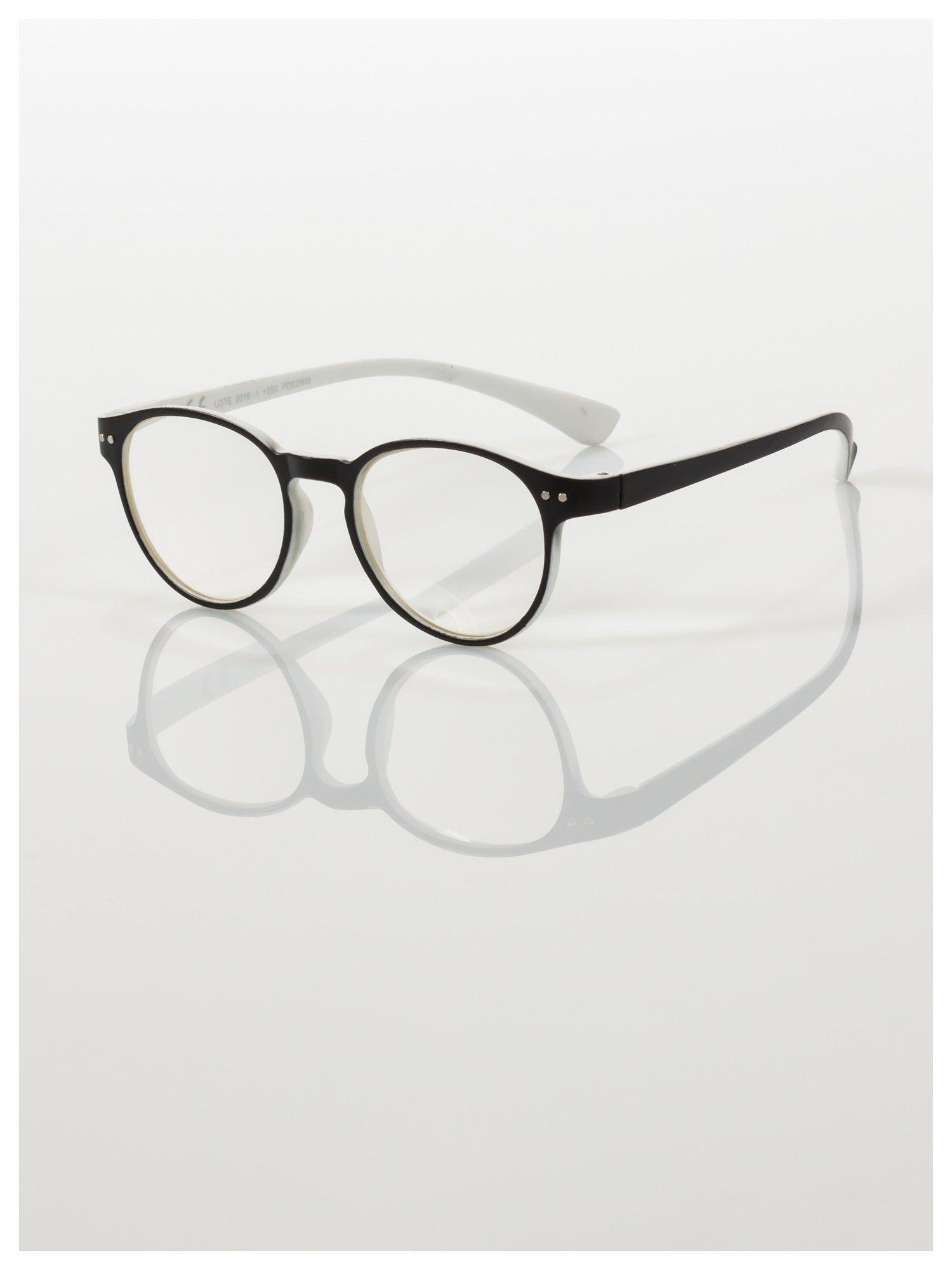 Okulary korekcyjne  +2.5 D dwukolorowe ,do czytania, stylizowane na RAY BAN +GRATIS PLASTIKOWE ETUI I ŚCIERECZKA Z MIKROFIBRY                                  zdj.                                  1