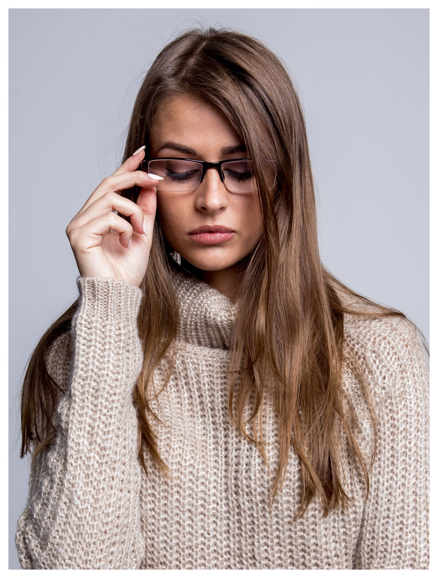 Okulary korekcyjne +3.0 D do czytania z systemem FLEX na zausznikach +GRATIS PLASTIKOWE ETUI I ŚCIERECZKA Z MIKROFIBRY                                  zdj.                                  2