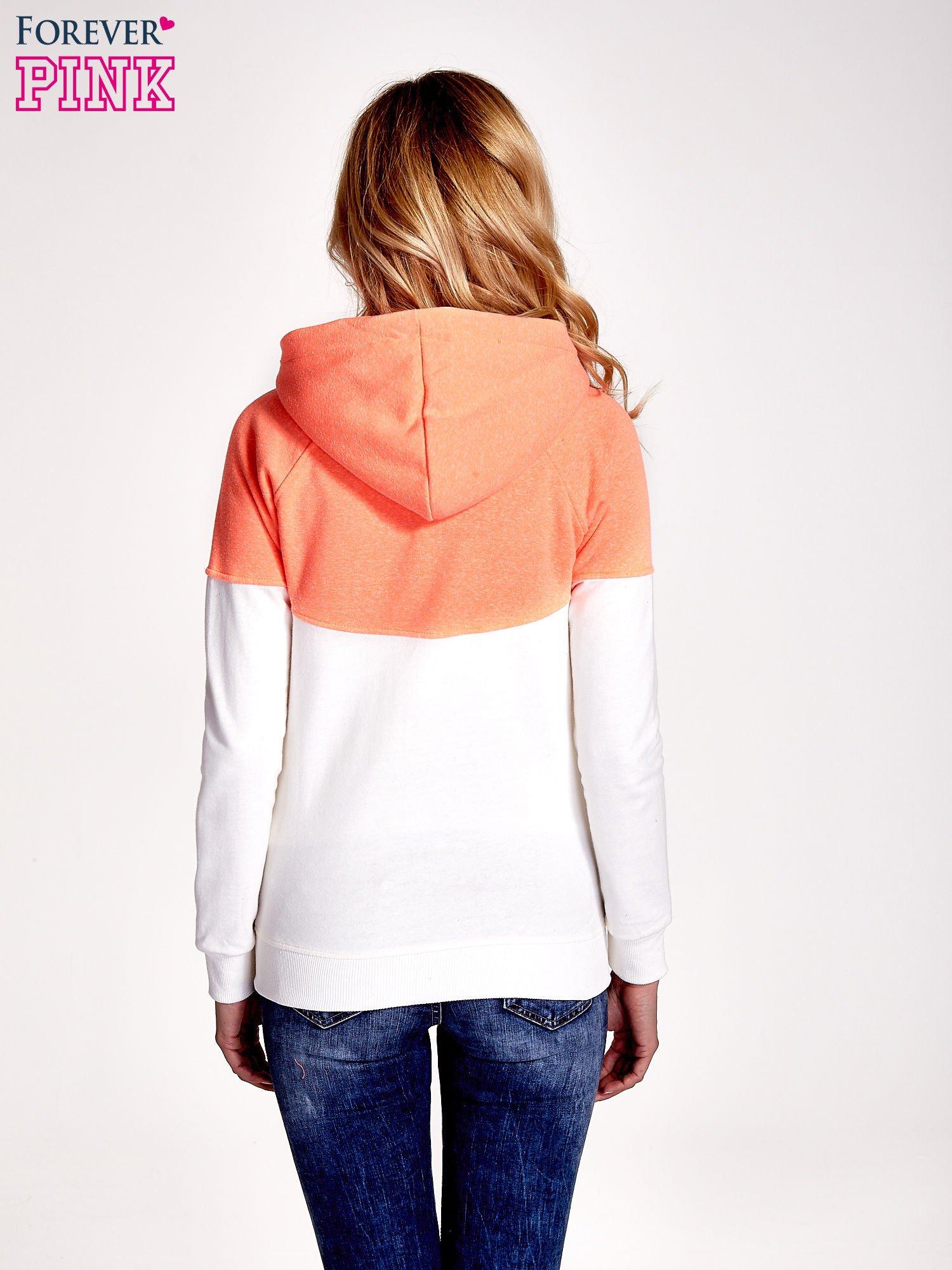 Pomarańczowa bluza z białym pasem                                  zdj.                                  4