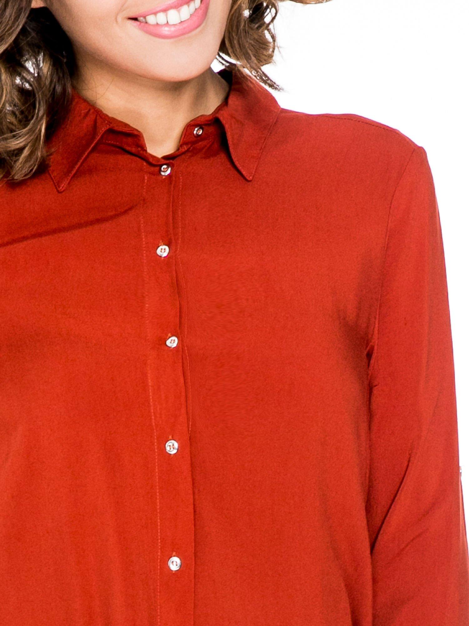 Pomarańczowa koszula damska z zamkiem z tyłu                                  zdj.                                  6