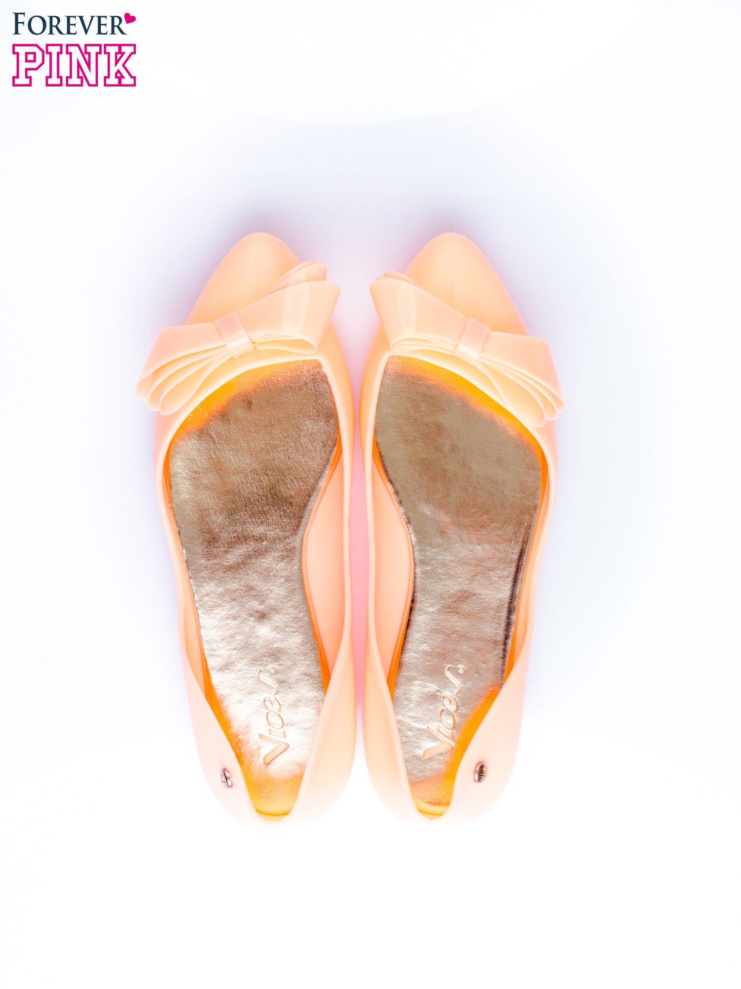 Pomarańczowe baleriny silicone Naomi gumowe z kokardą                                  zdj.                                  6