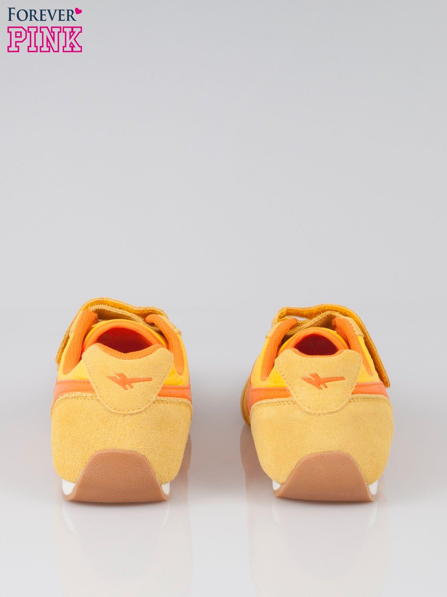 Pomarańczowe buty sportwe textile Sunrise na rzepy                                  zdj.                                  3
