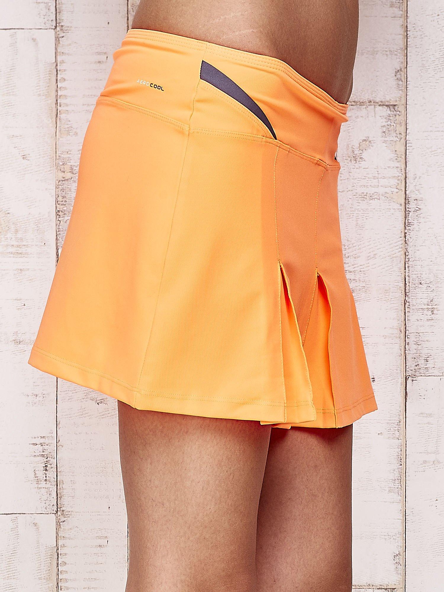 Pomarańczowe spodenki spódniczka tenisowa z szarymi wstawkami                                  zdj.                                  5