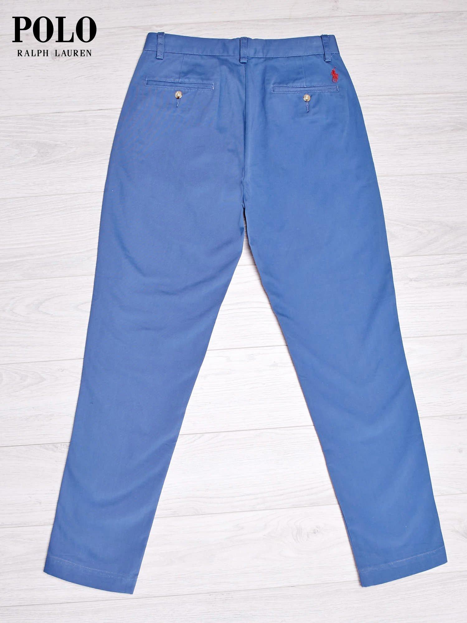 RALPH LAUREN Ciemnoniebieskie spodnie męskie