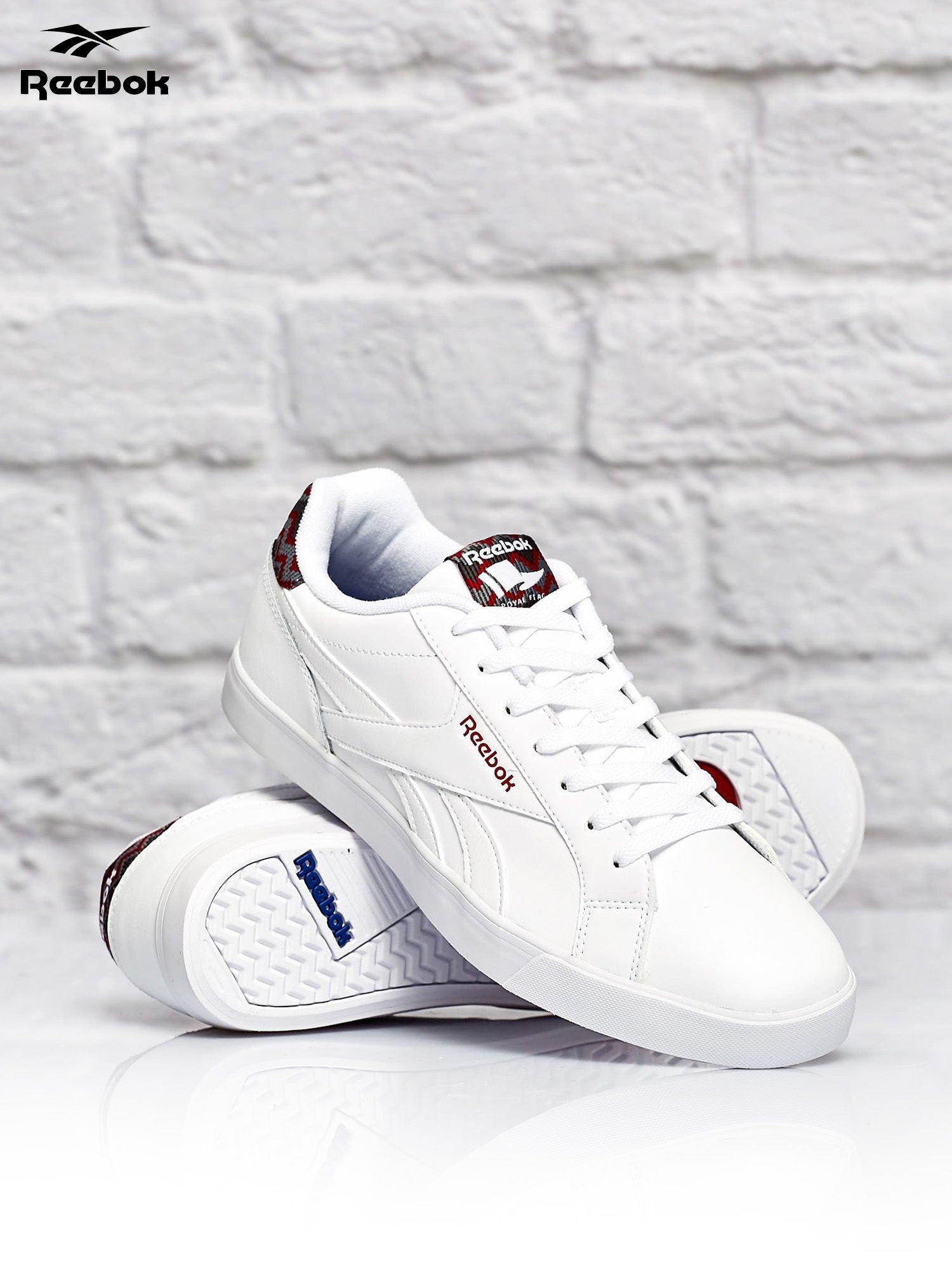 białe męskie adidasy
