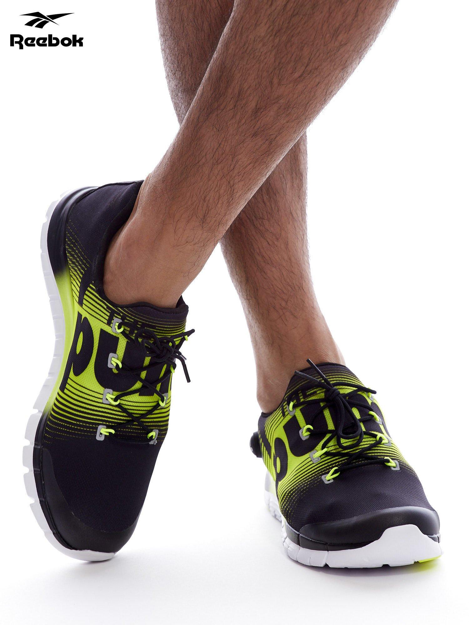 90234f0a REEBOK ZPUMP FUSION Czarno-żółte buty męskie sportowe z nadrukiem ...