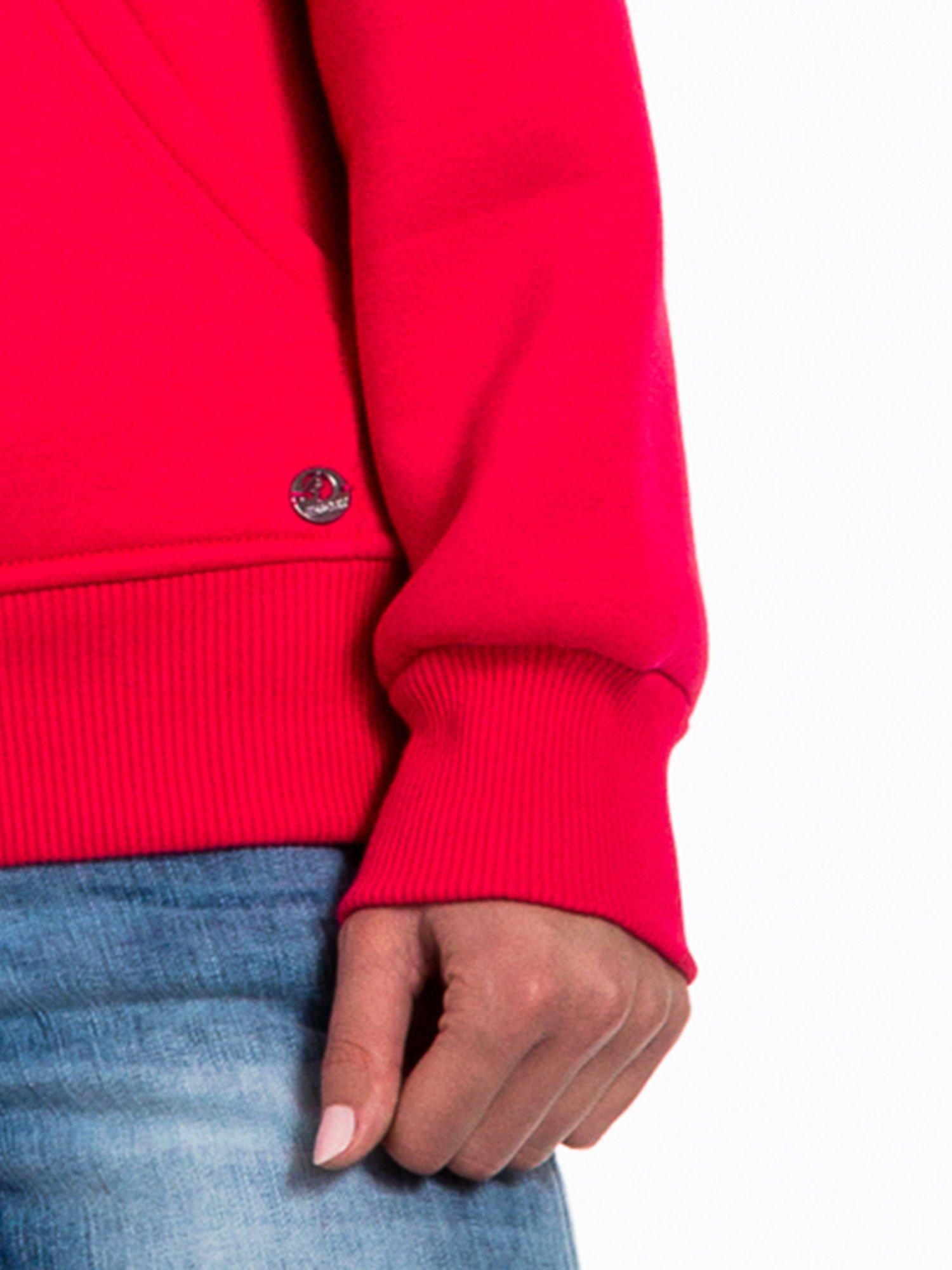 Różowa bluza sportowa z kapturem i dżetami                                  zdj.                                  6