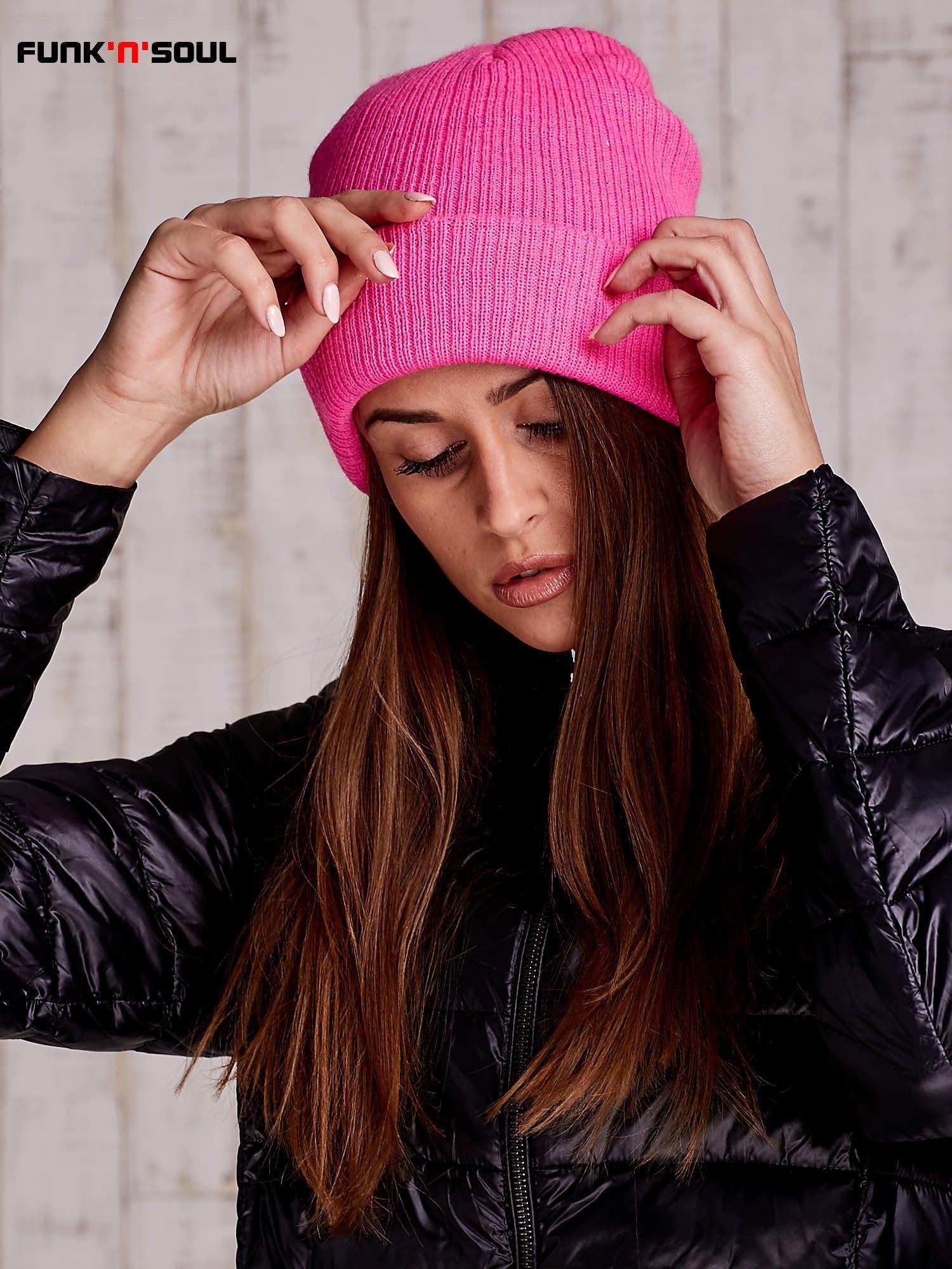 Różowa czapka beanie FUNK N SOUL                                  zdj.                                  3