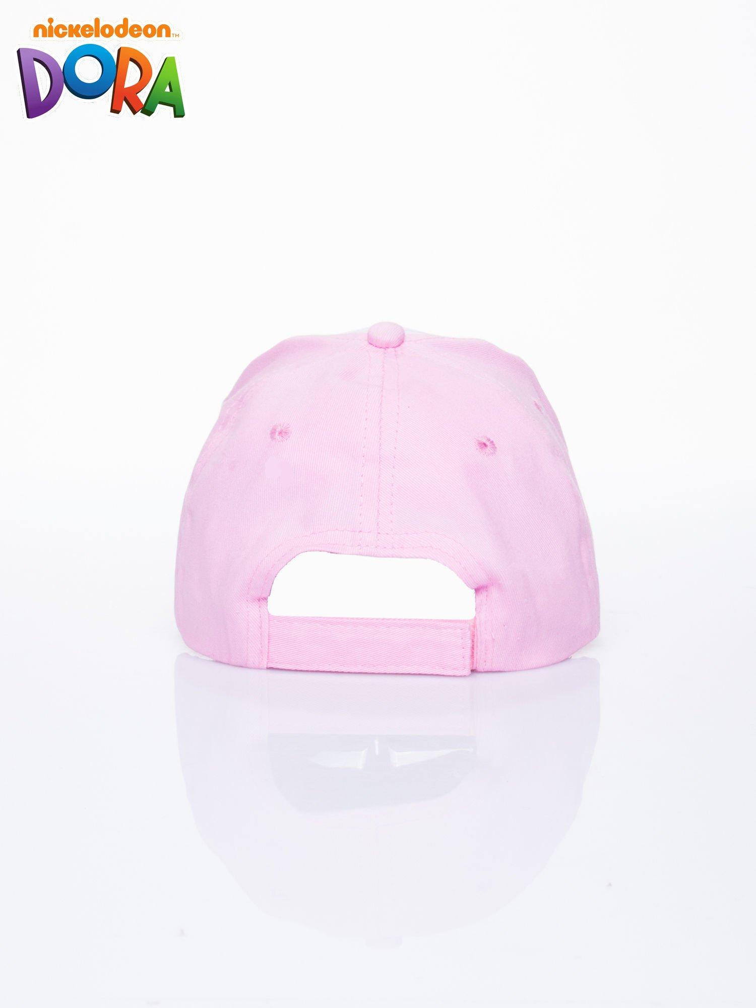 Różowa czapka z daszkiem dla dziewczynki DORA                                  zdj.                                  3