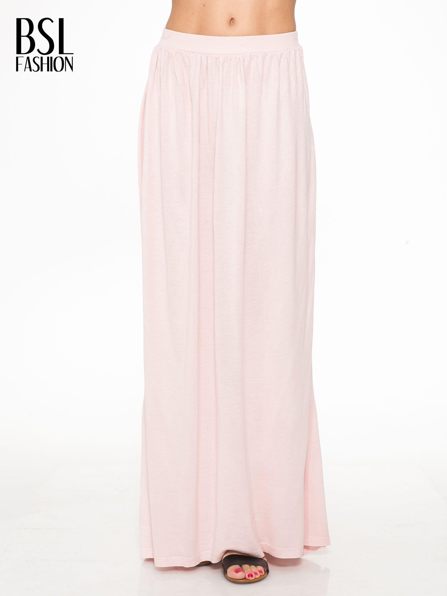 Różowa długa spódnica maxi                                  zdj.                                  1