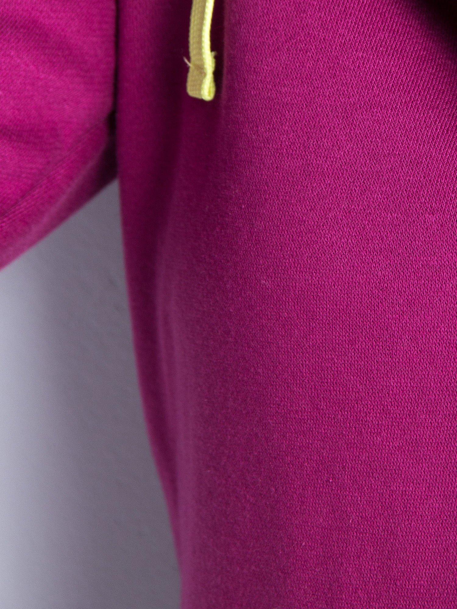 Różowa dresowa bluza sportowa z kapturem                                  zdj.                                  5