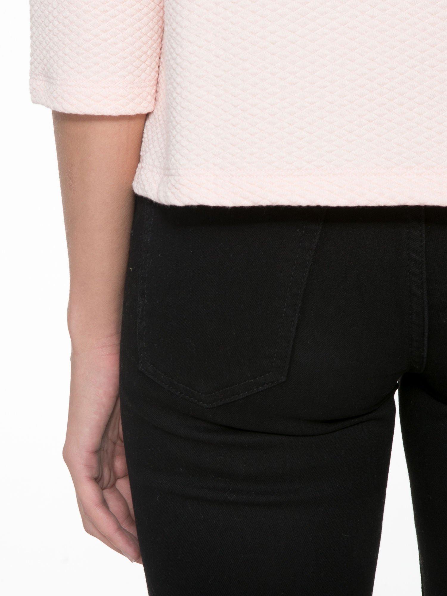Różowa fakturowana bluzka z kimonowym rękawem długości 3/4                                  zdj.                                  8
