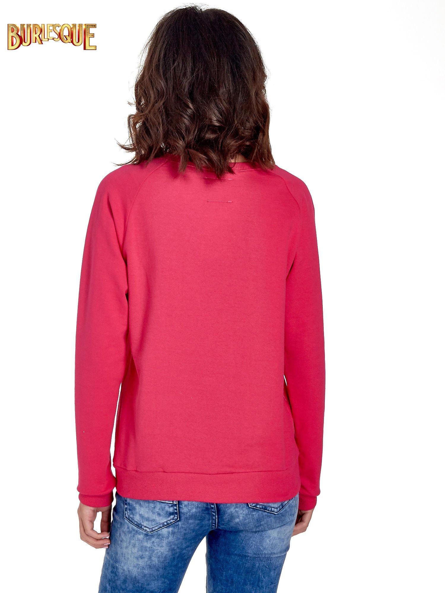 Różowa klasyczna damska bluza z napisem LOVE IS EVERYTHING                                  zdj.                                  4