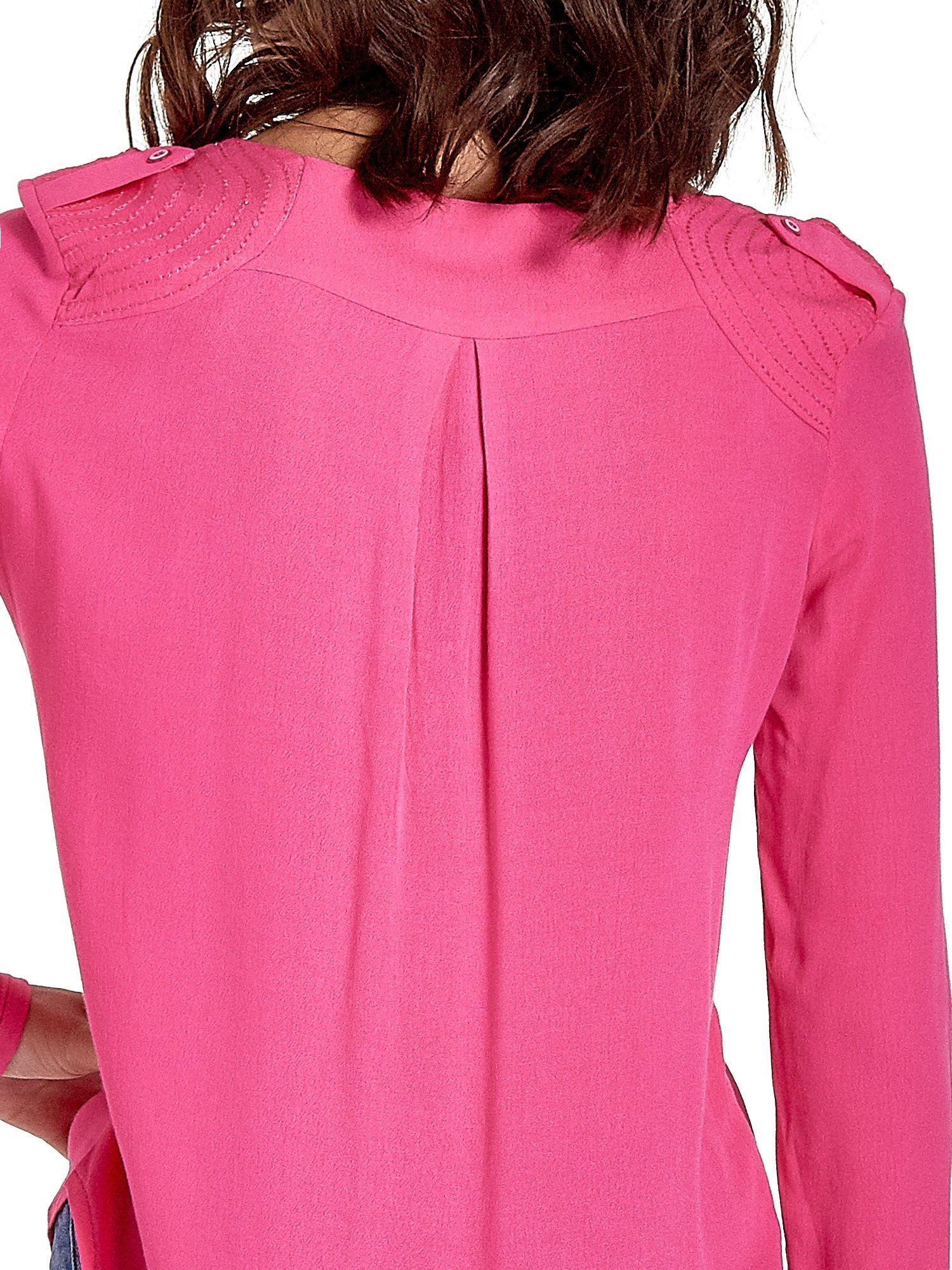 Różowa koszula z kontrafałdą z tyłu                                  zdj.                                  6