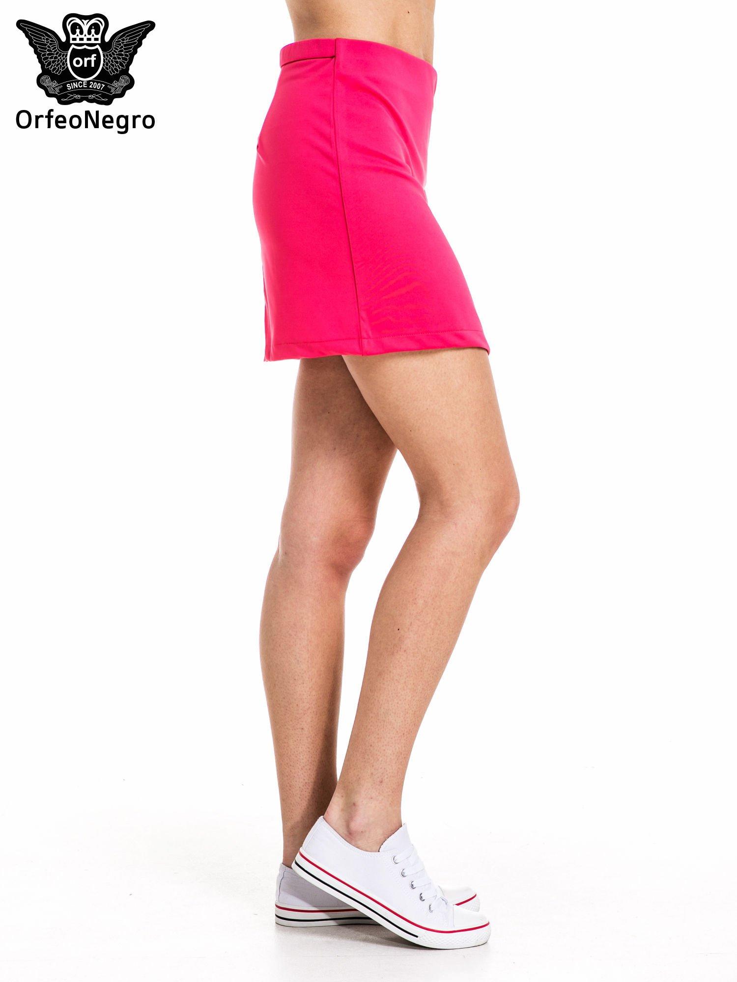 Różowa minispódnica z asymetrycznym suwakiem                                  zdj.                                  2