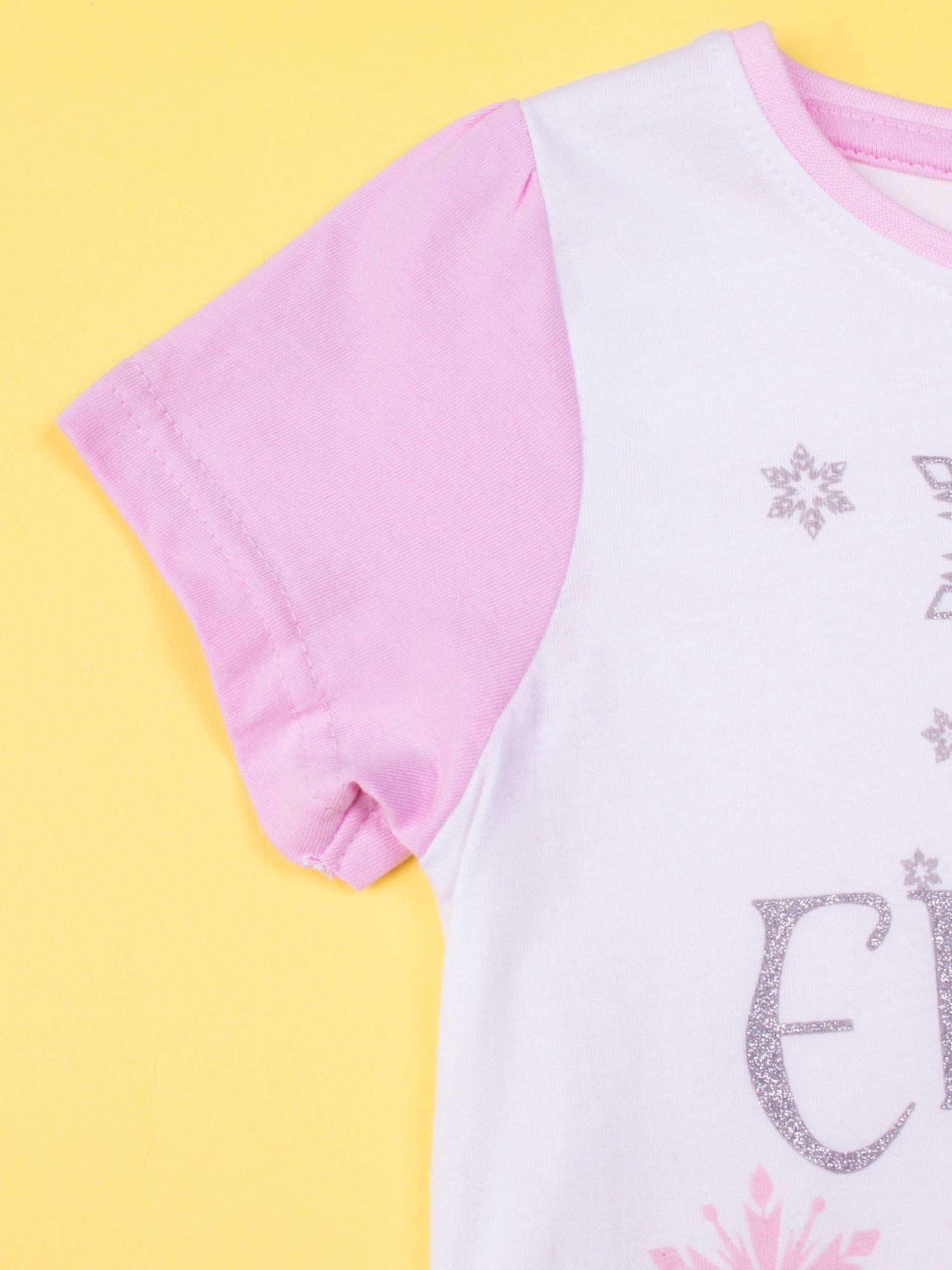 Różowa piżama dla dziewczynki KRAINA LODU                                  zdj.                                  5