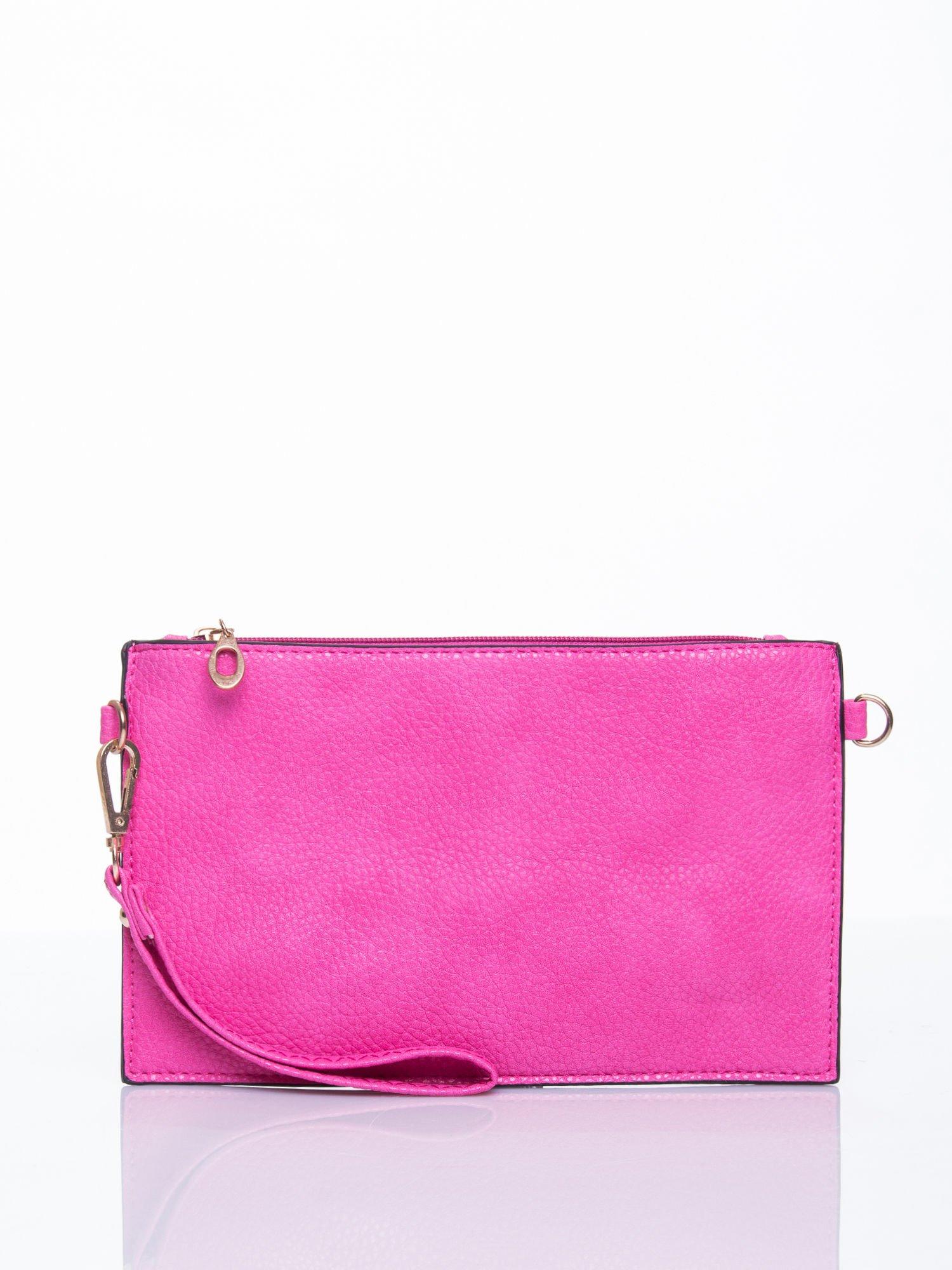 Różowa prosta przewieszana torebka z uchwytem                                  zdj.                                  1