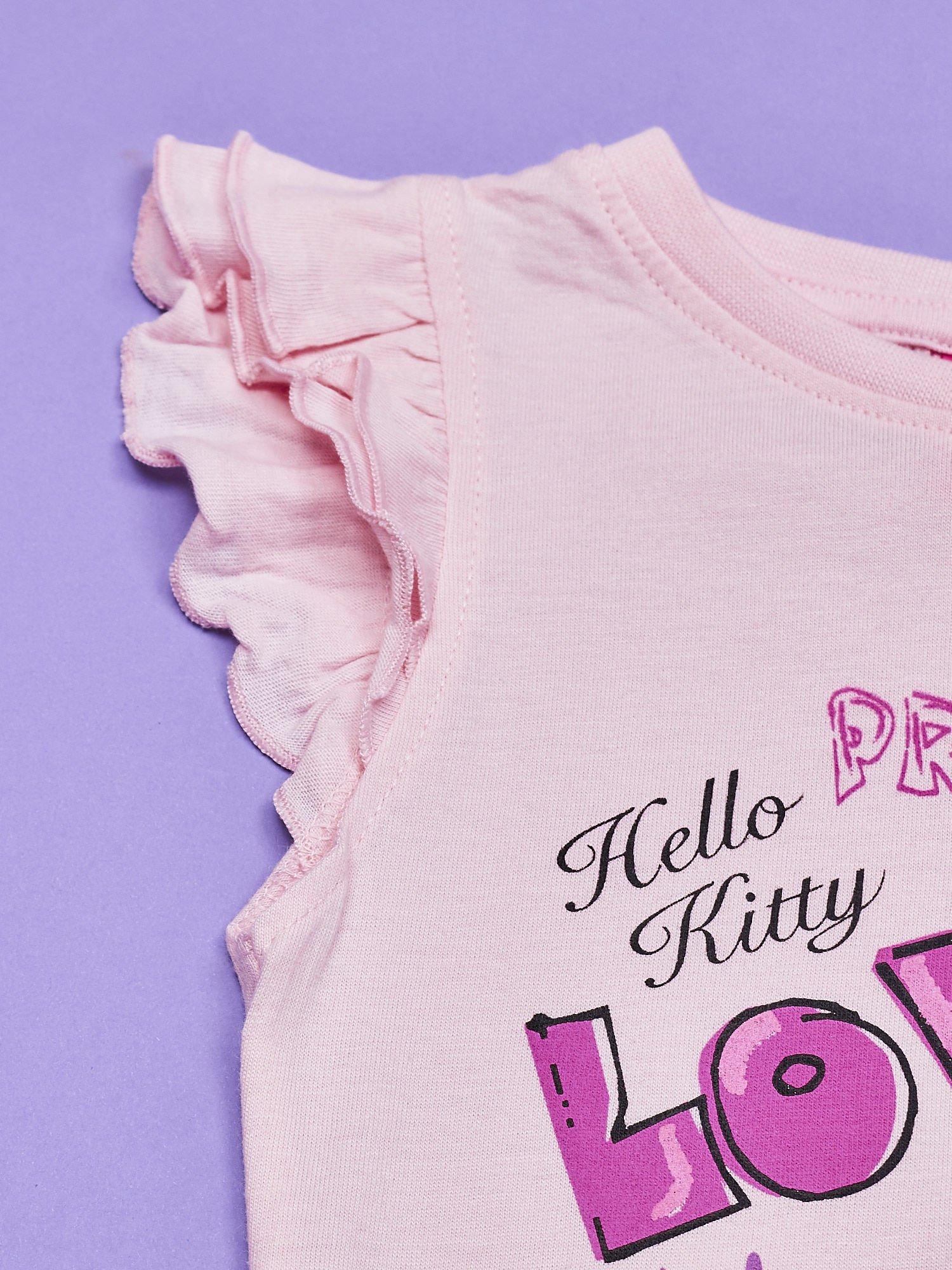 Różowa sukienka dla dziewczynki HELLO KITTY                                  zdj.                                  5