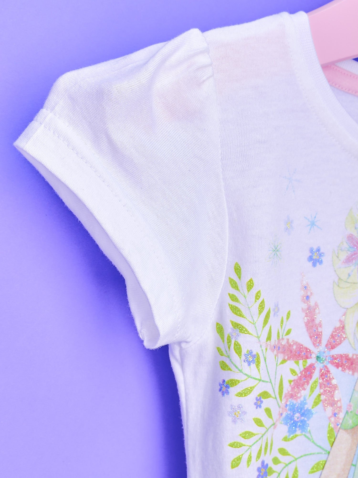 Różowa sukienka dla dziewczynki z brokatowym paskiem FROZEN                                  zdj.                                  6