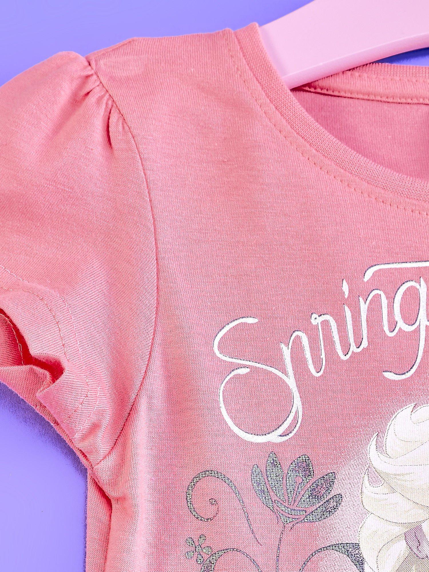 Różowa sukienka dla dziewczynki z tiulowym wykończeniem FROZEN                                  zdj.                                  3