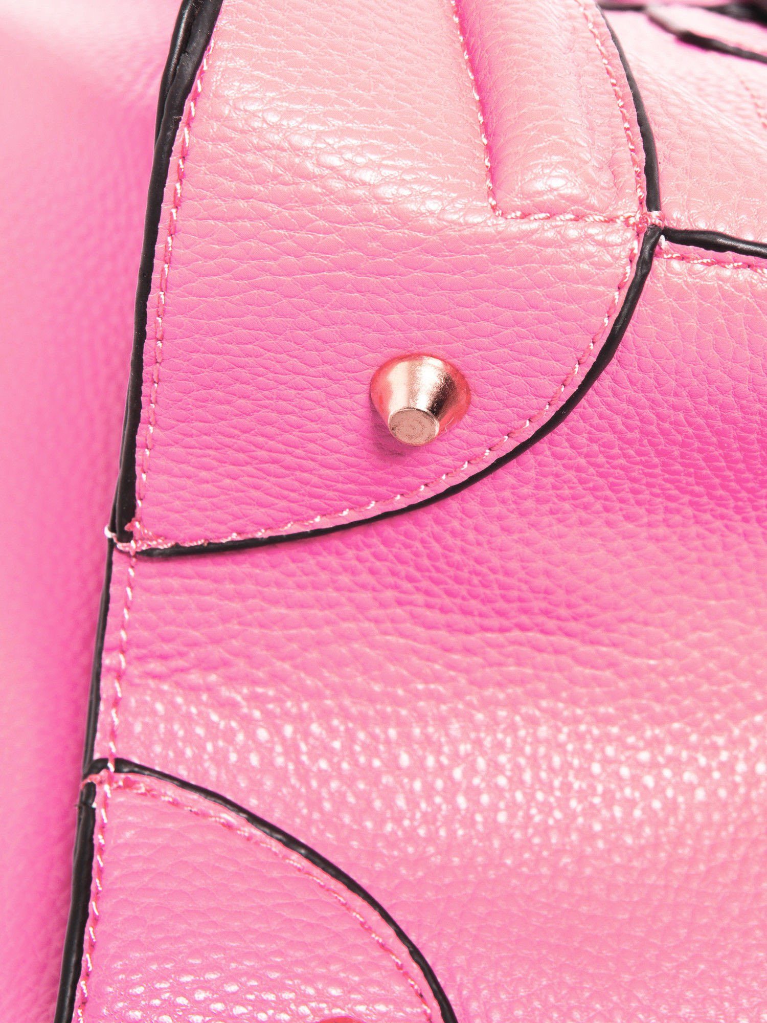 Różowa trapezowa torba miejska                                   zdj.                                  5