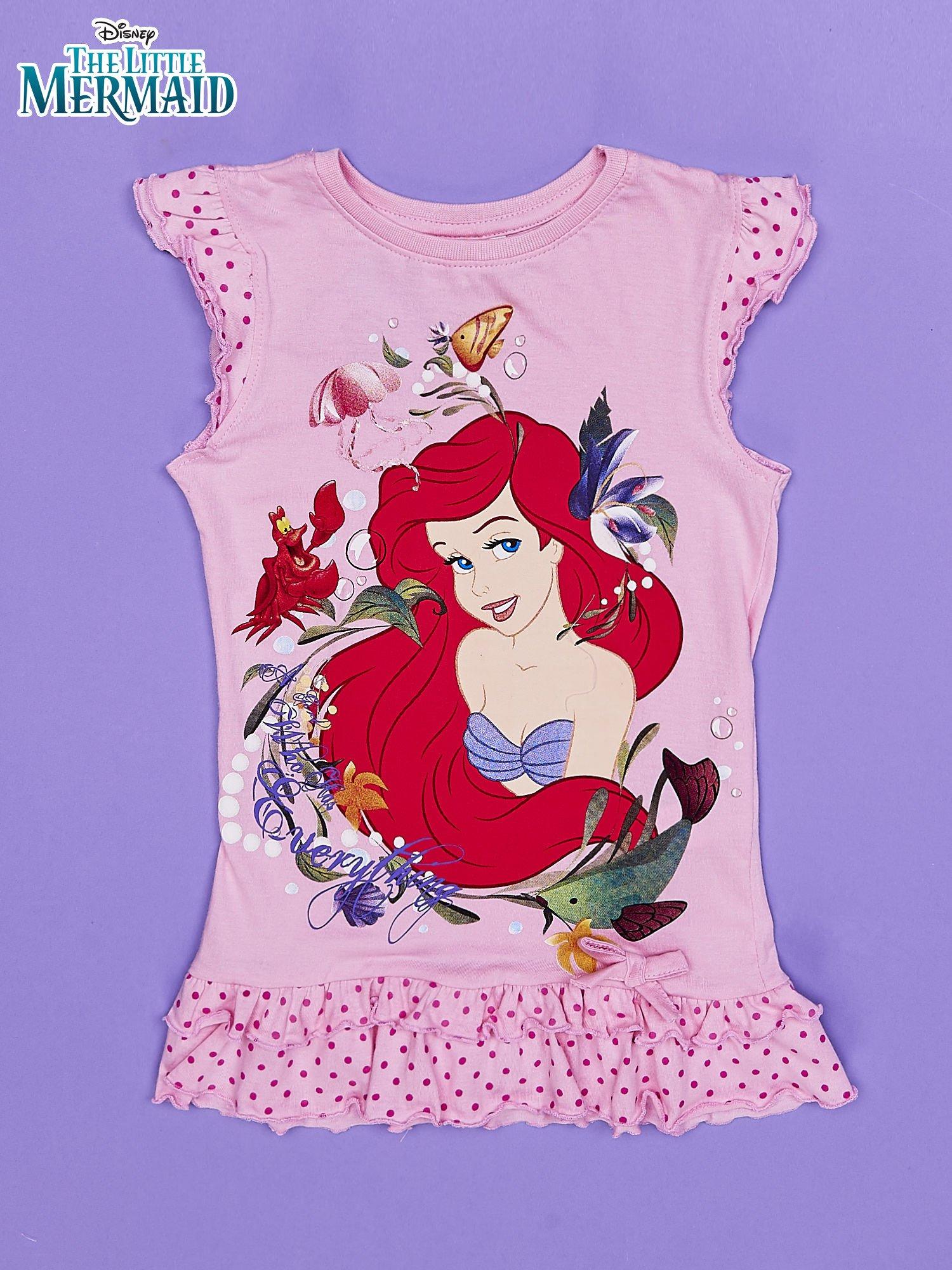 Różowa tunika dla dziewczynki MAŁA SYRENKA                                  zdj.                                  1