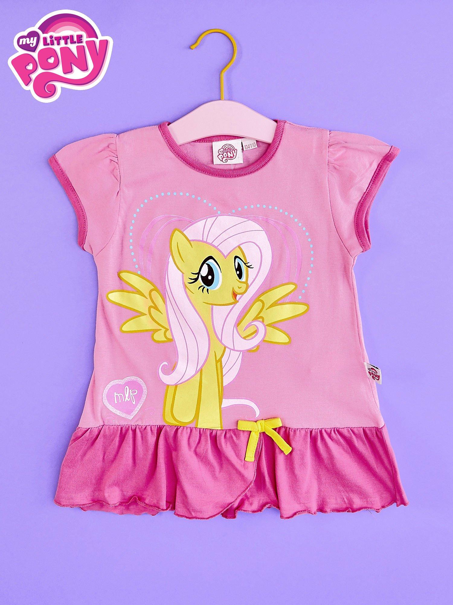 Różowa tunika dla dziewczynki MY LITTLE PONY z kokardką                                  zdj.                                  1