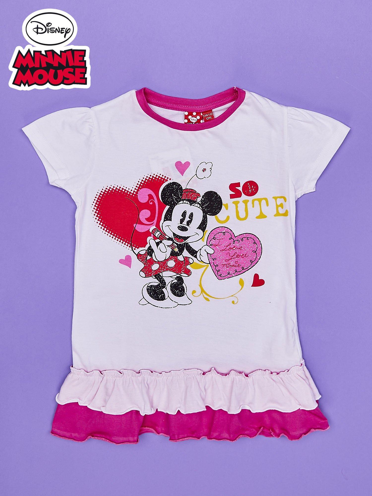 Różowa tunika dla dziewczynki z motywem MINNIE MOUSE                                  zdj.                                  1
