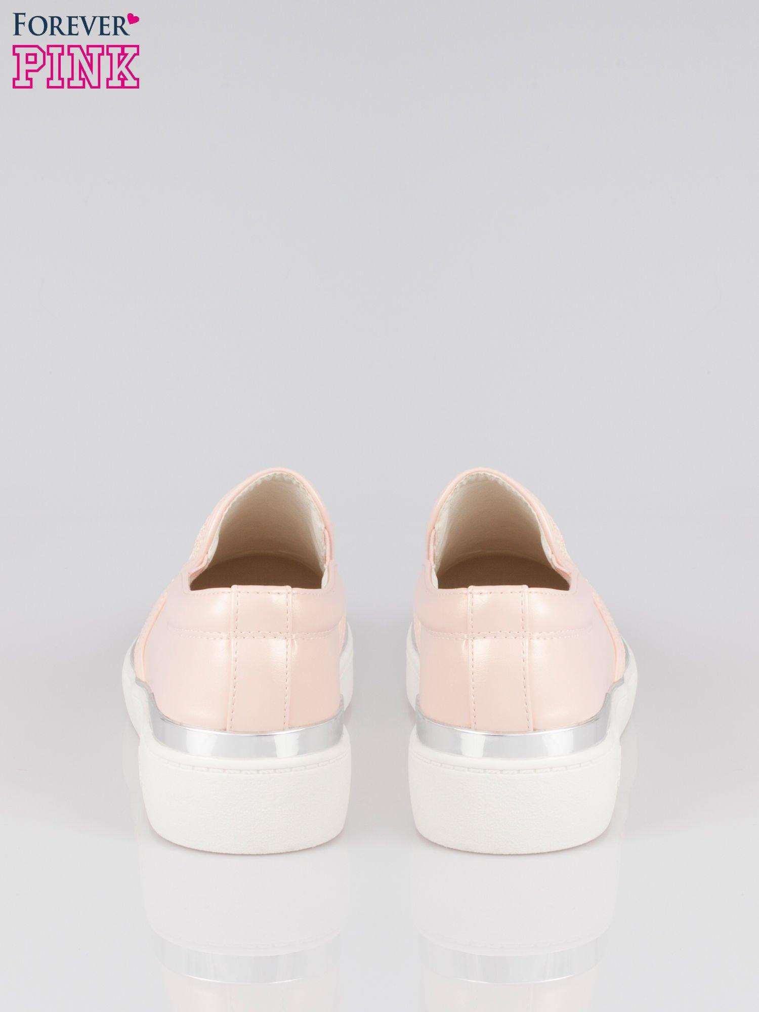 Różowe buty sliponki glitter                                  zdj.                                  3