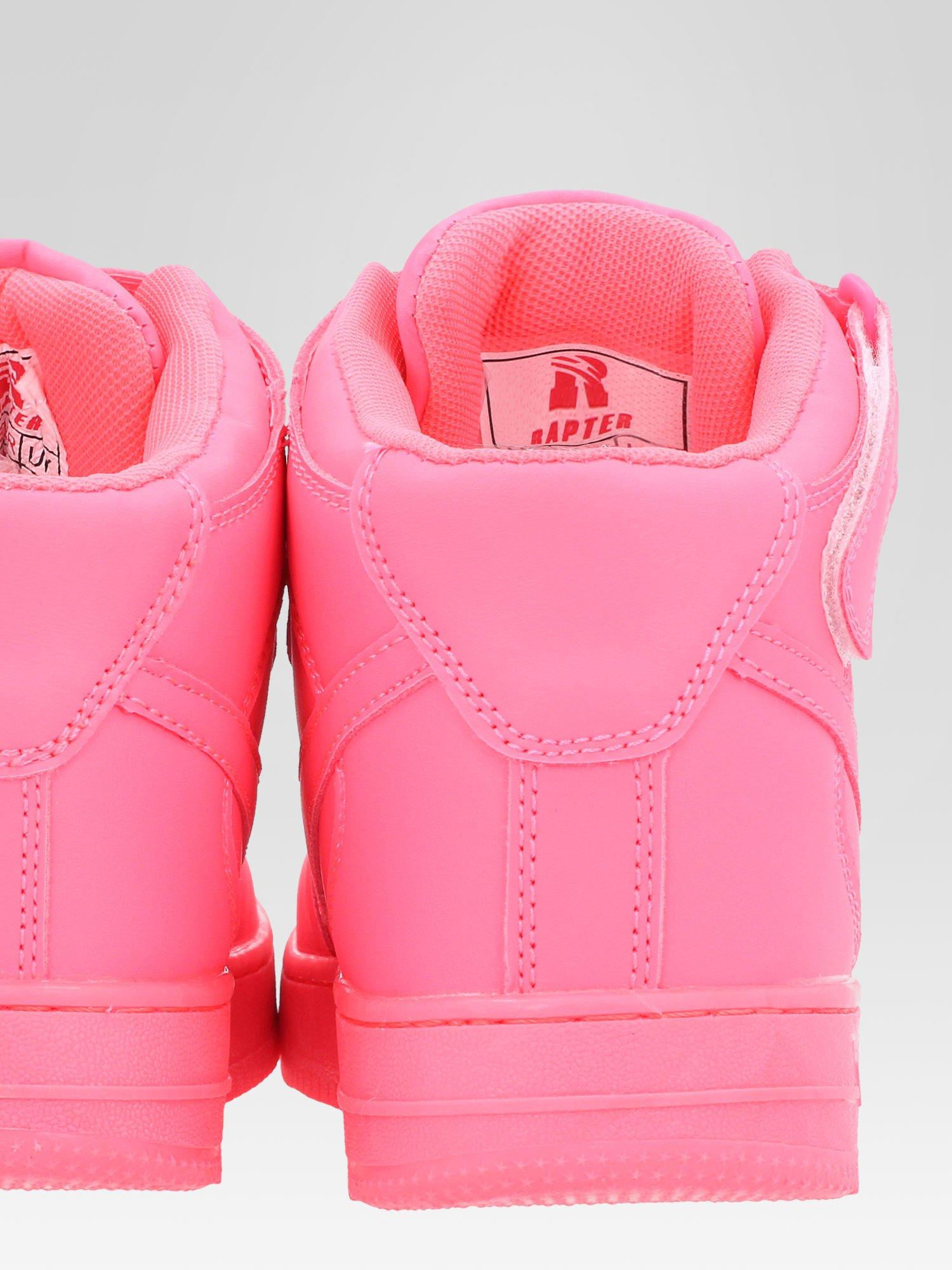 Różowe buty sportowe Heather za kostkę na grubej podeszwie                                  zdj.                                  5