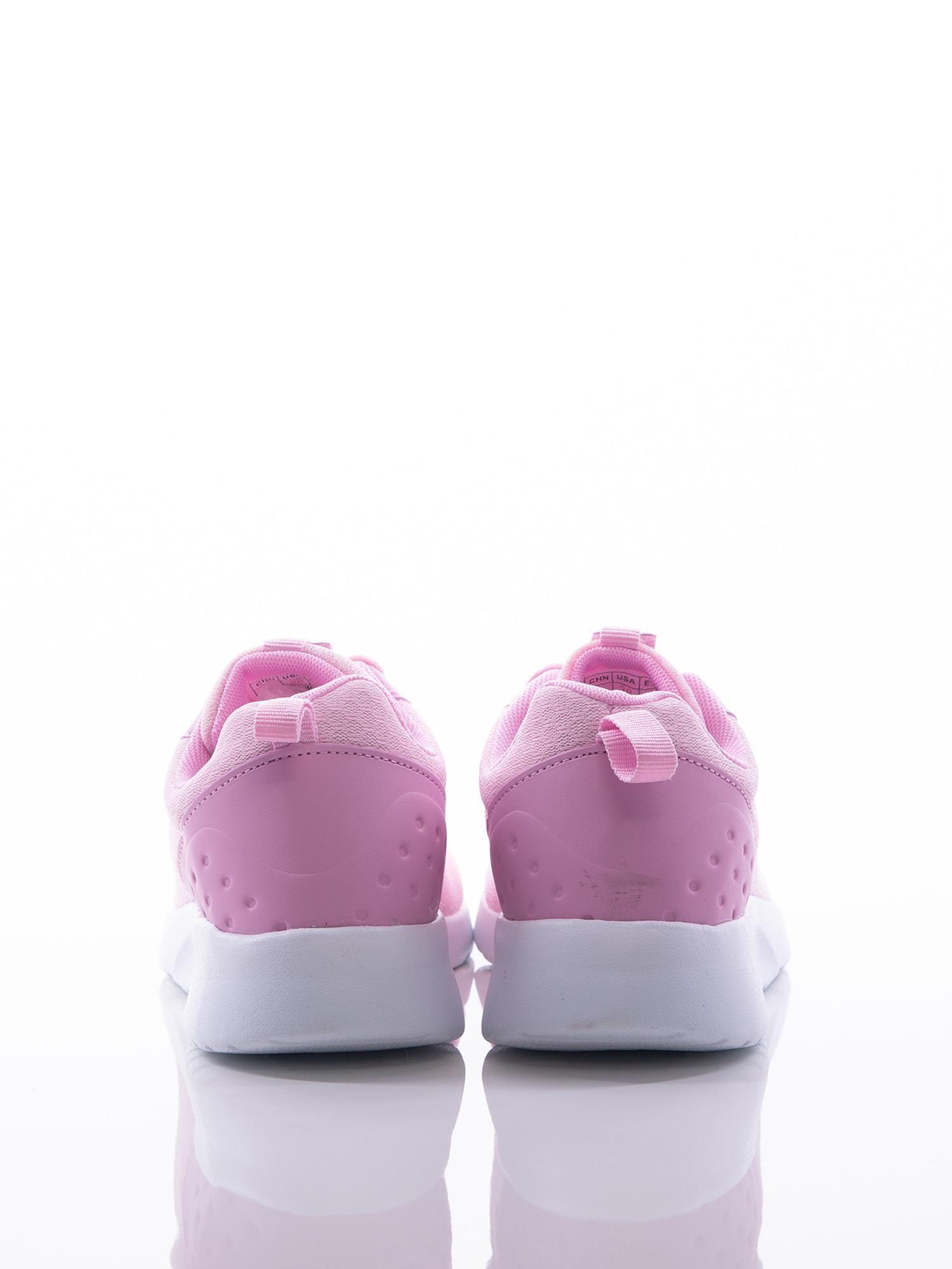 b0ea6d12253ba4 Różowe buty sportowe na sprężystej podeszwie z ciemniejszą wstawką na pięcie  - Buty Buty sportowe - sklep eButik.pl