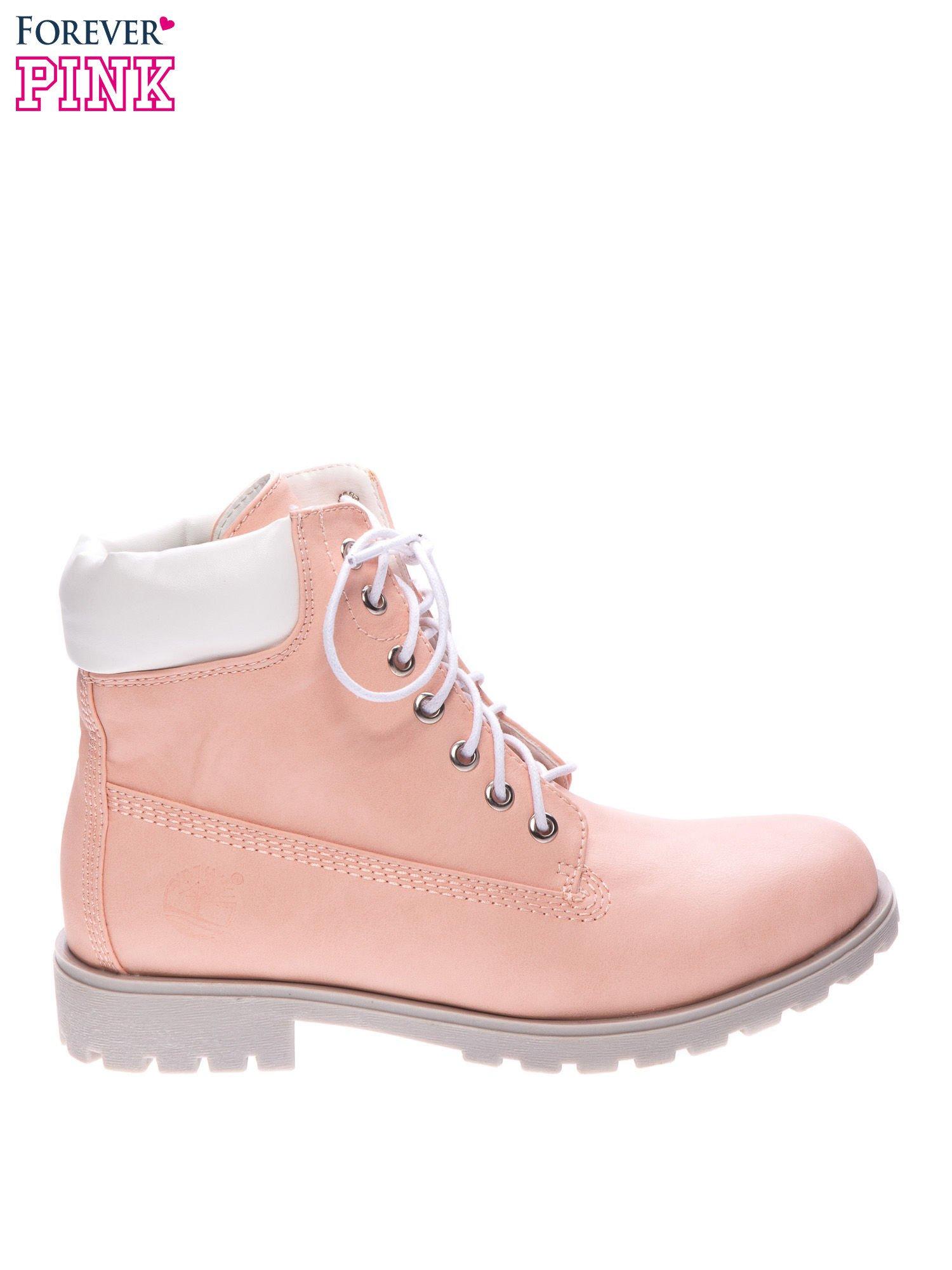 bdd5be47 Różowe buty trekkingowe damskie typu timberki - Buty Buty ...