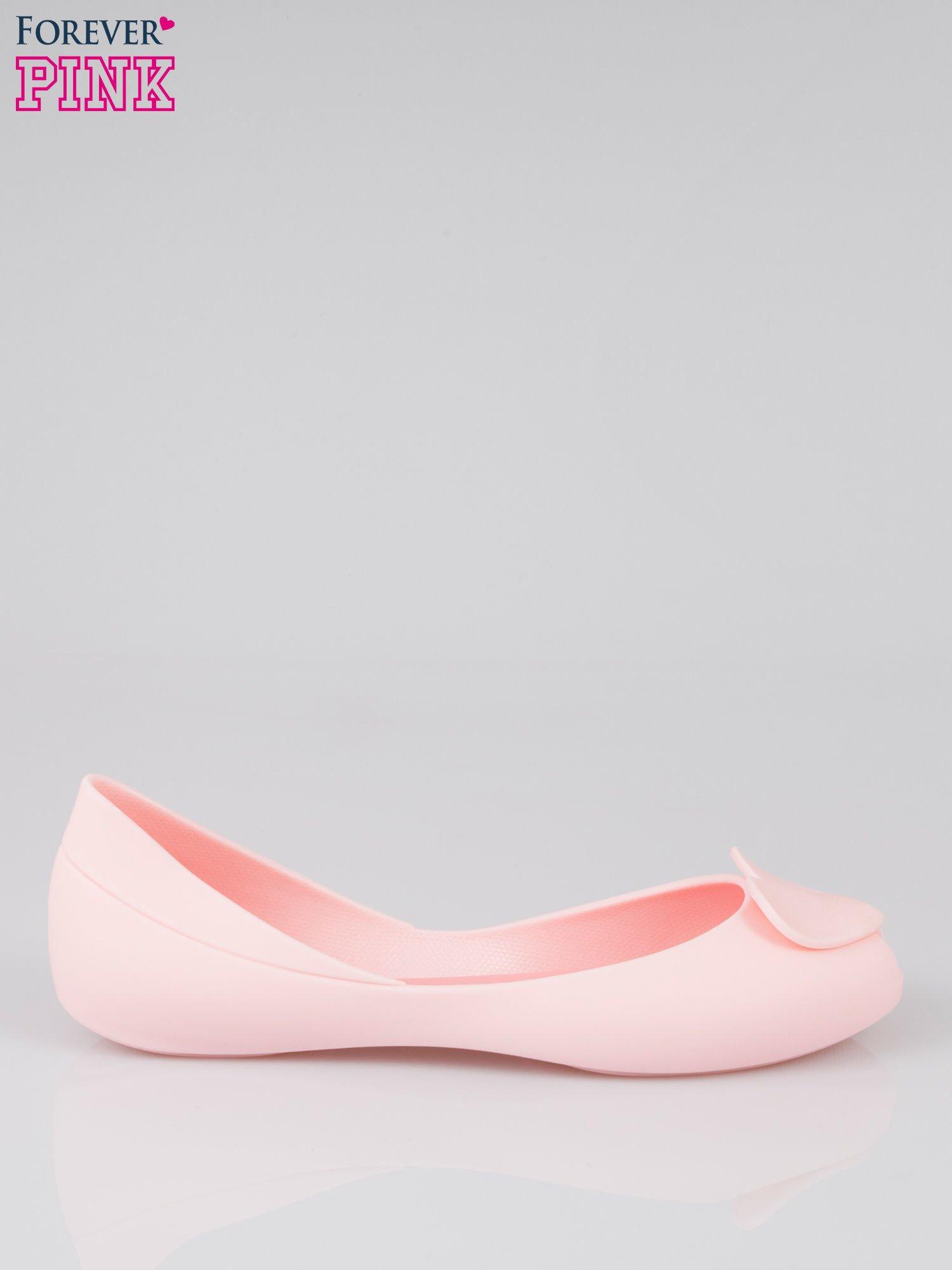 Różowe gumowe baleriny meliski z sercem                                  zdj.                                  1