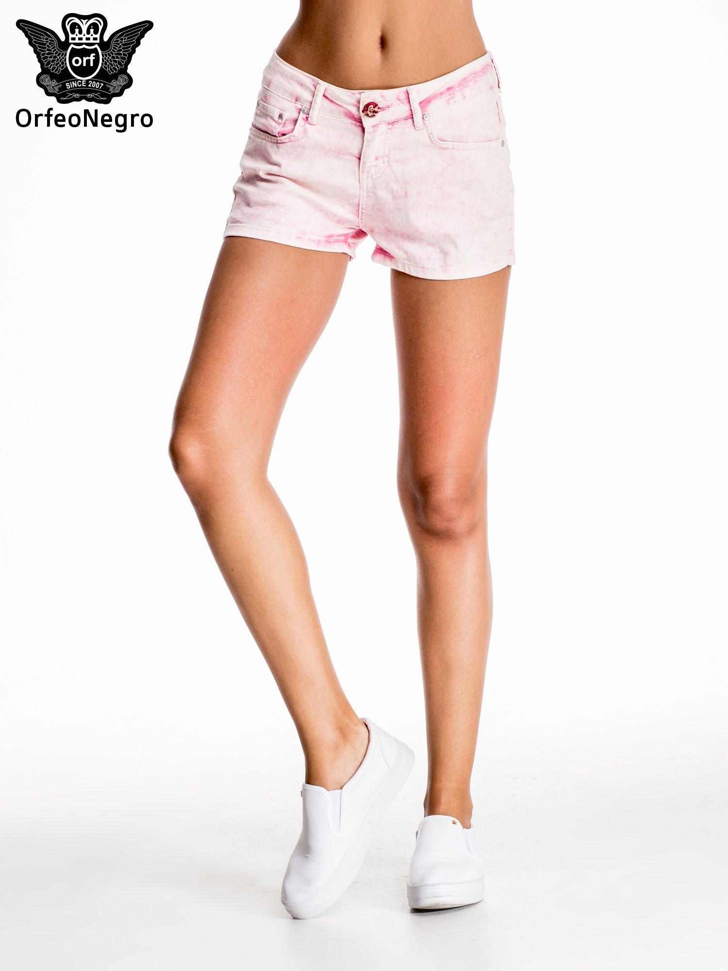 Różowe jeansowe szorty                                  zdj.                                  3