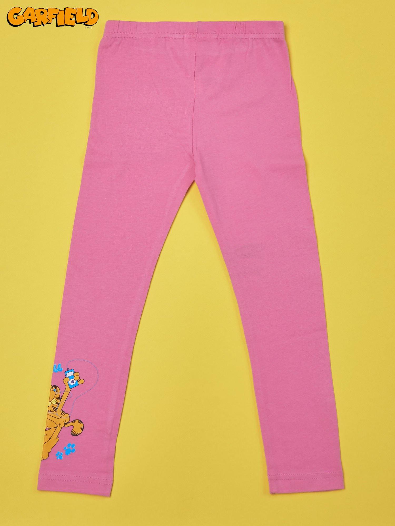 Różowe legginsy dla dziewczynki GARFIELD                                  zdj.                                  2