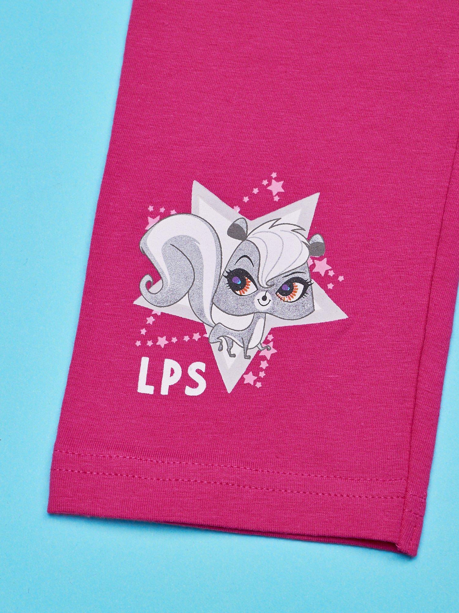Różowe legginsy dla dziewczynki LITTLEST PET SHOP                                  zdj.                                  5