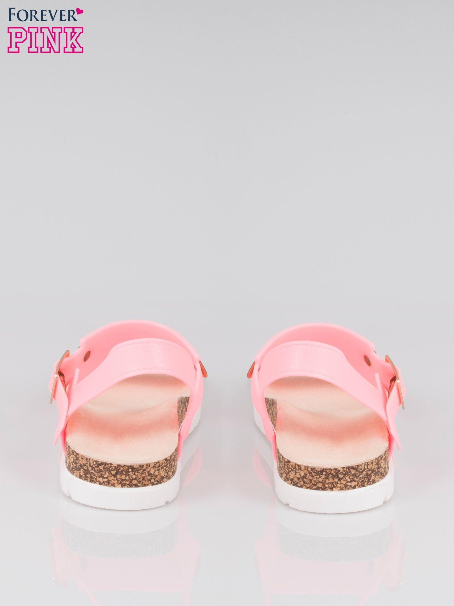 Różowe sandały damskie z blaszką                                  zdj.                                  3