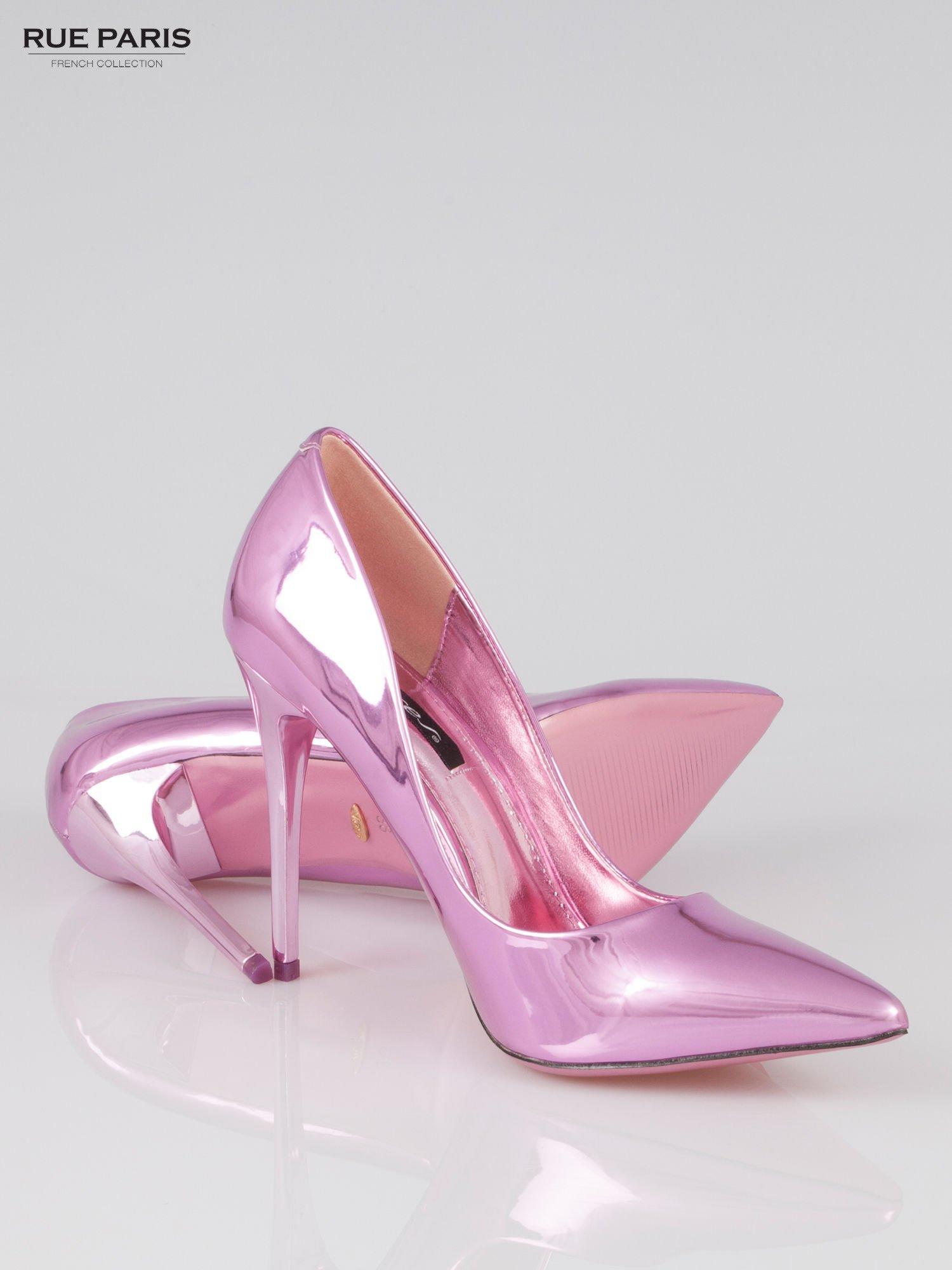 Różowe szpilki metaliczne Mirror Heels                                  zdj.                                  4