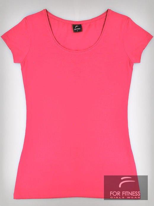Różowy basicowy t-shirt For Fitness                                  zdj.                                  2