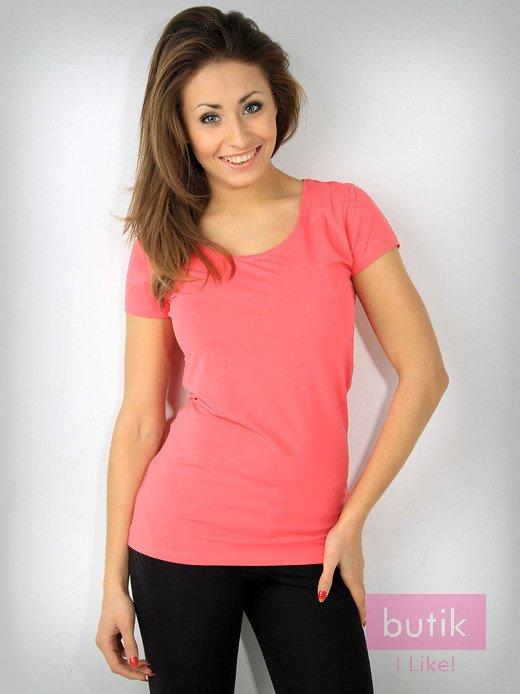 Różowy bawełniany t-shirt For Fitness                                  zdj.                                  1