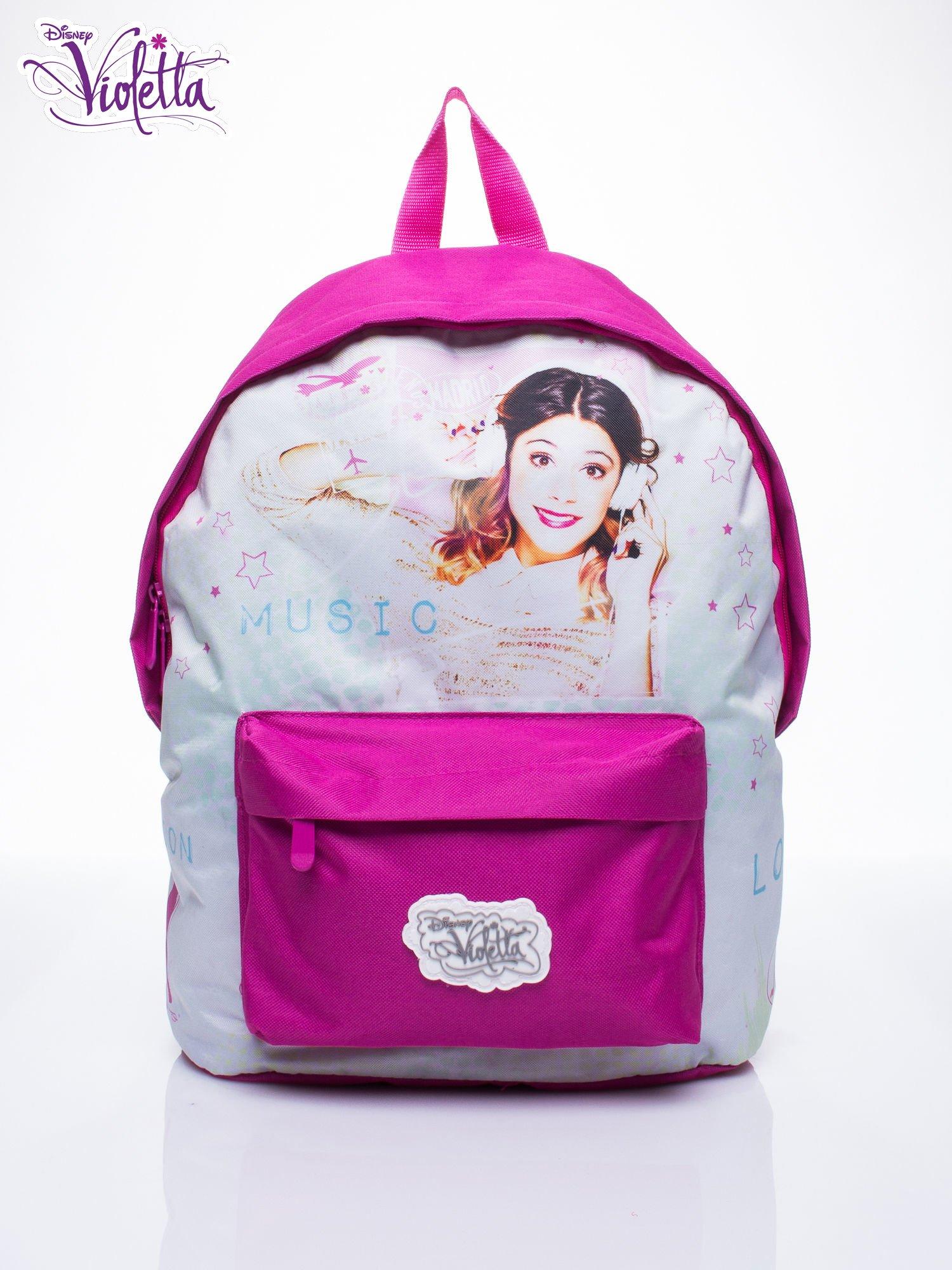 Różowy plecak szkolny DISNEY Violetta                                  zdj.                                  1