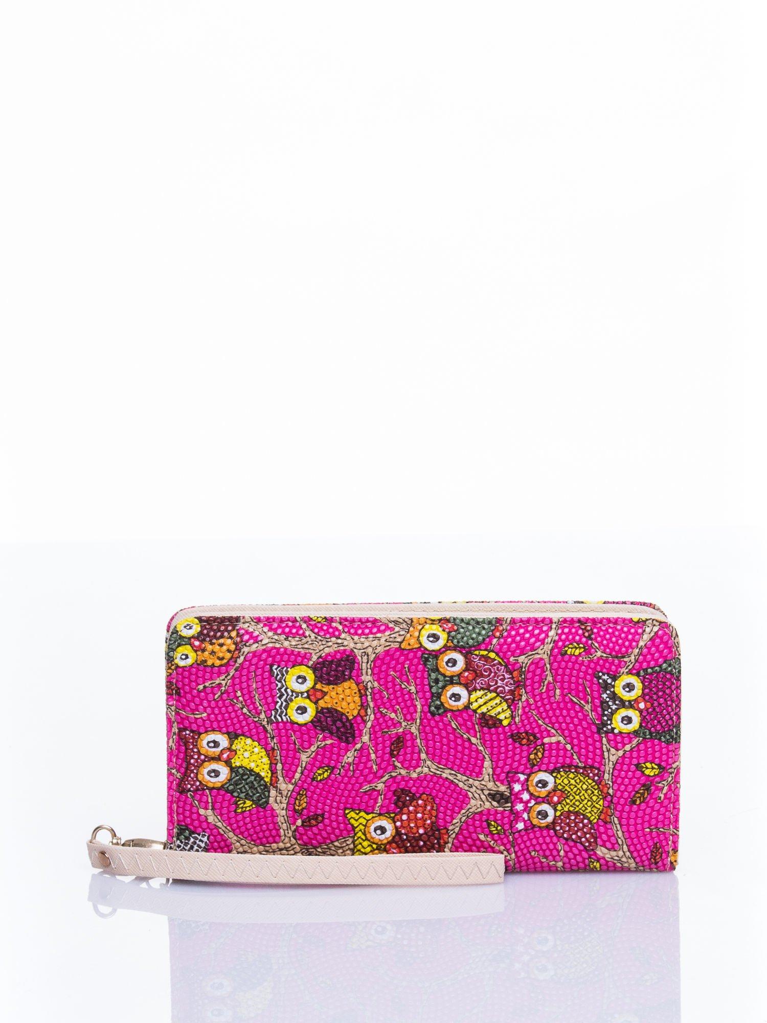 Różowy portfel w sówki                                  zdj.                                  1