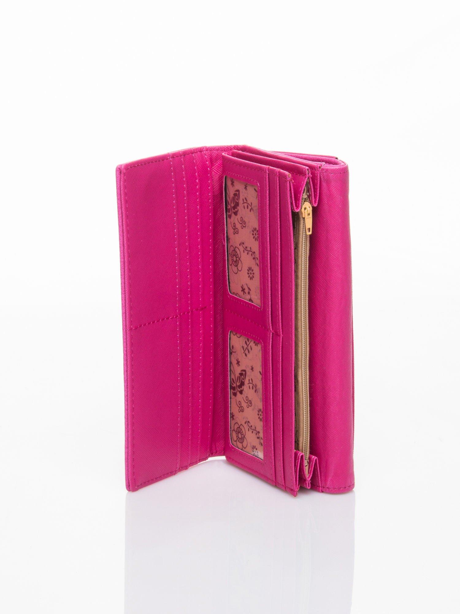 Różowy portfel z ażurowaniem i plecionką                                  zdj.                                  5