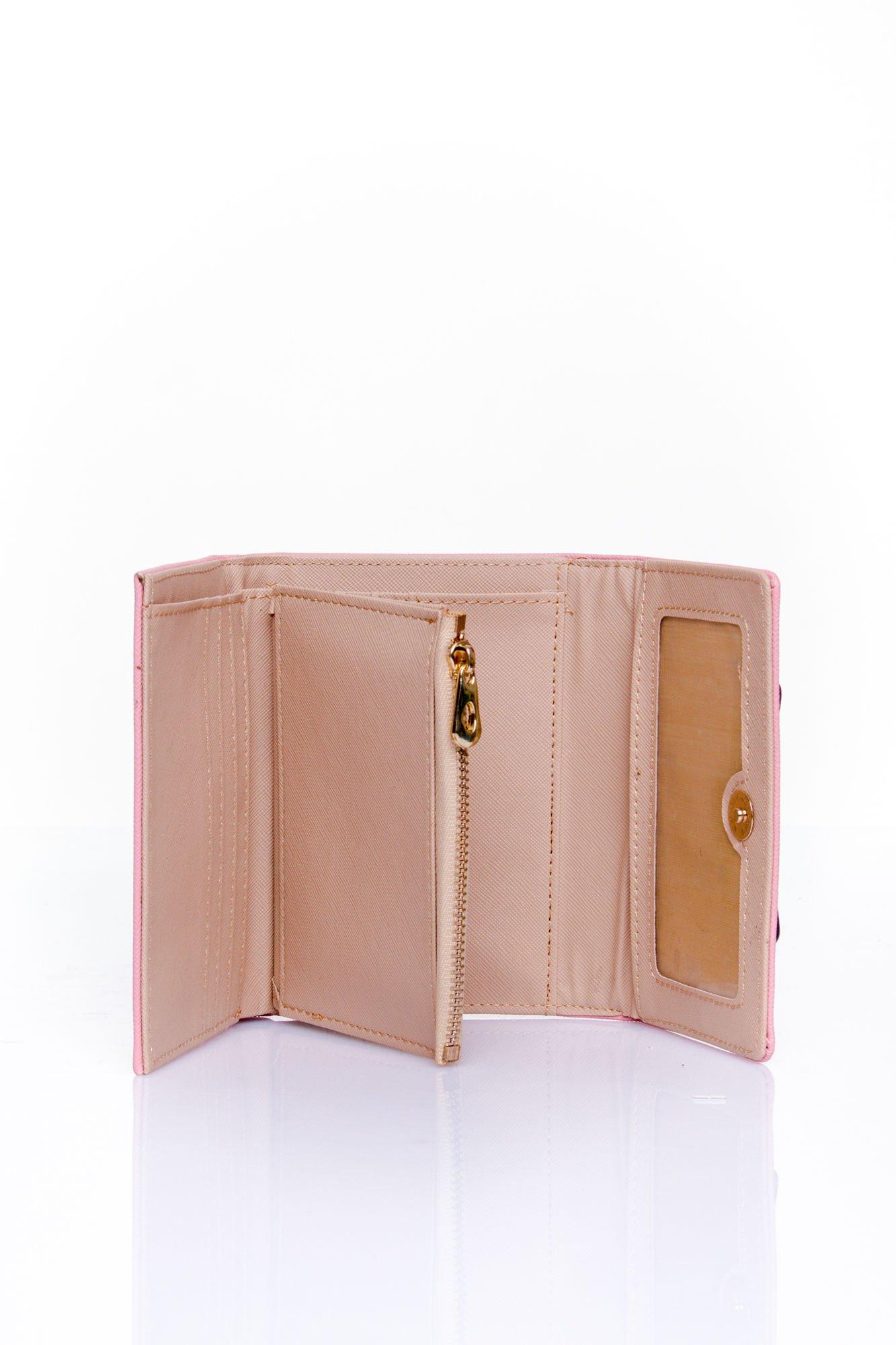 Różowy portfel z kokardką                                  zdj.                                  5