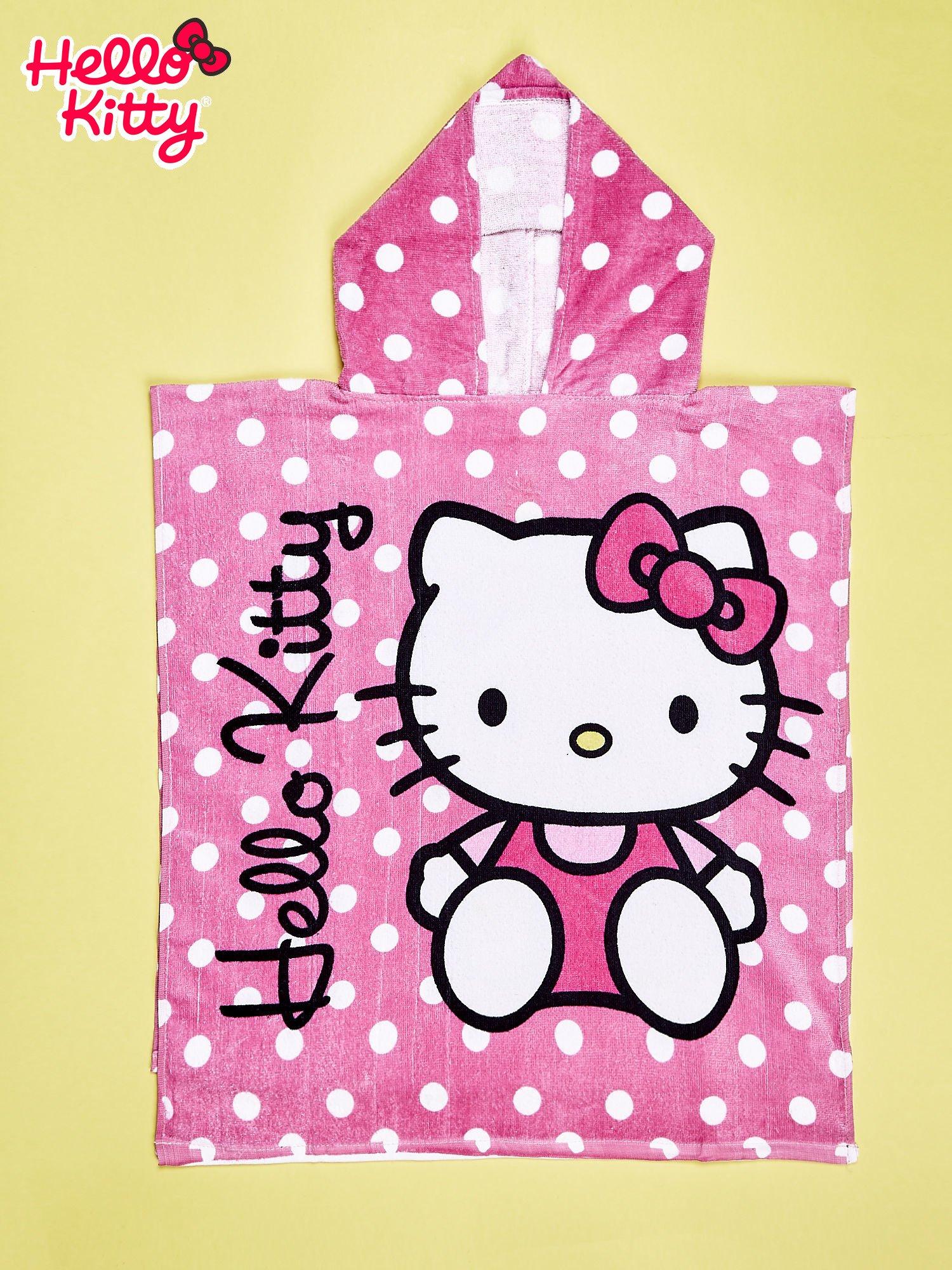 Różowy szlafrok dla dziewczynki HELLO KITTY                                  zdj.                                  1